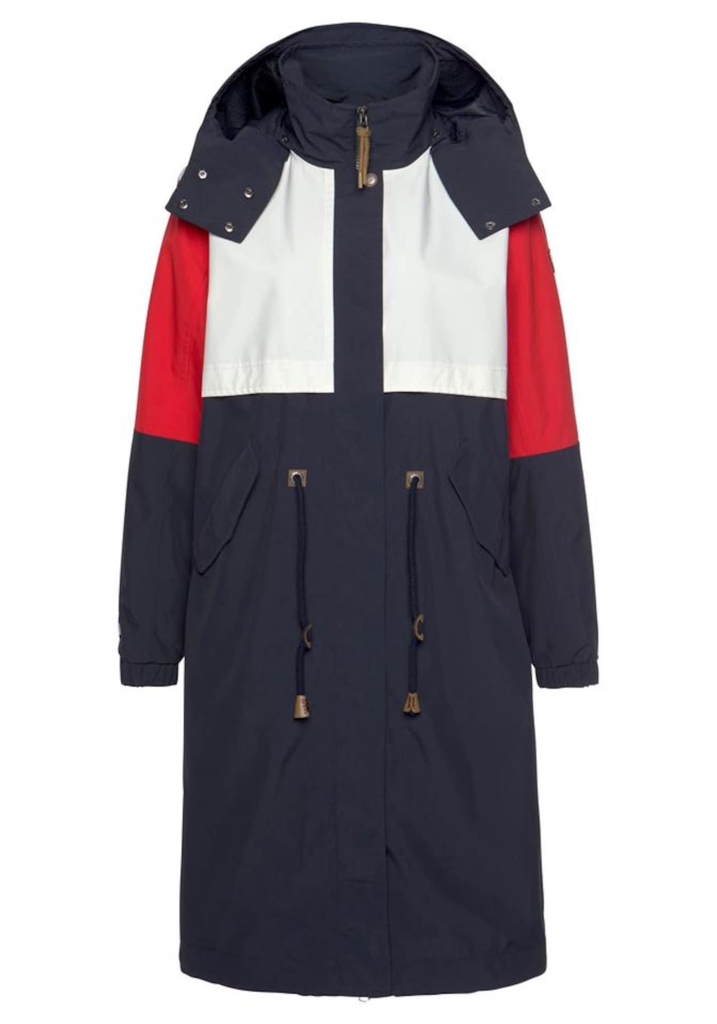 ICEPEAK Rudeninis-žieminis paltas 'Algoma' raudona / tamsiai mėlyna jūros spalva / balta