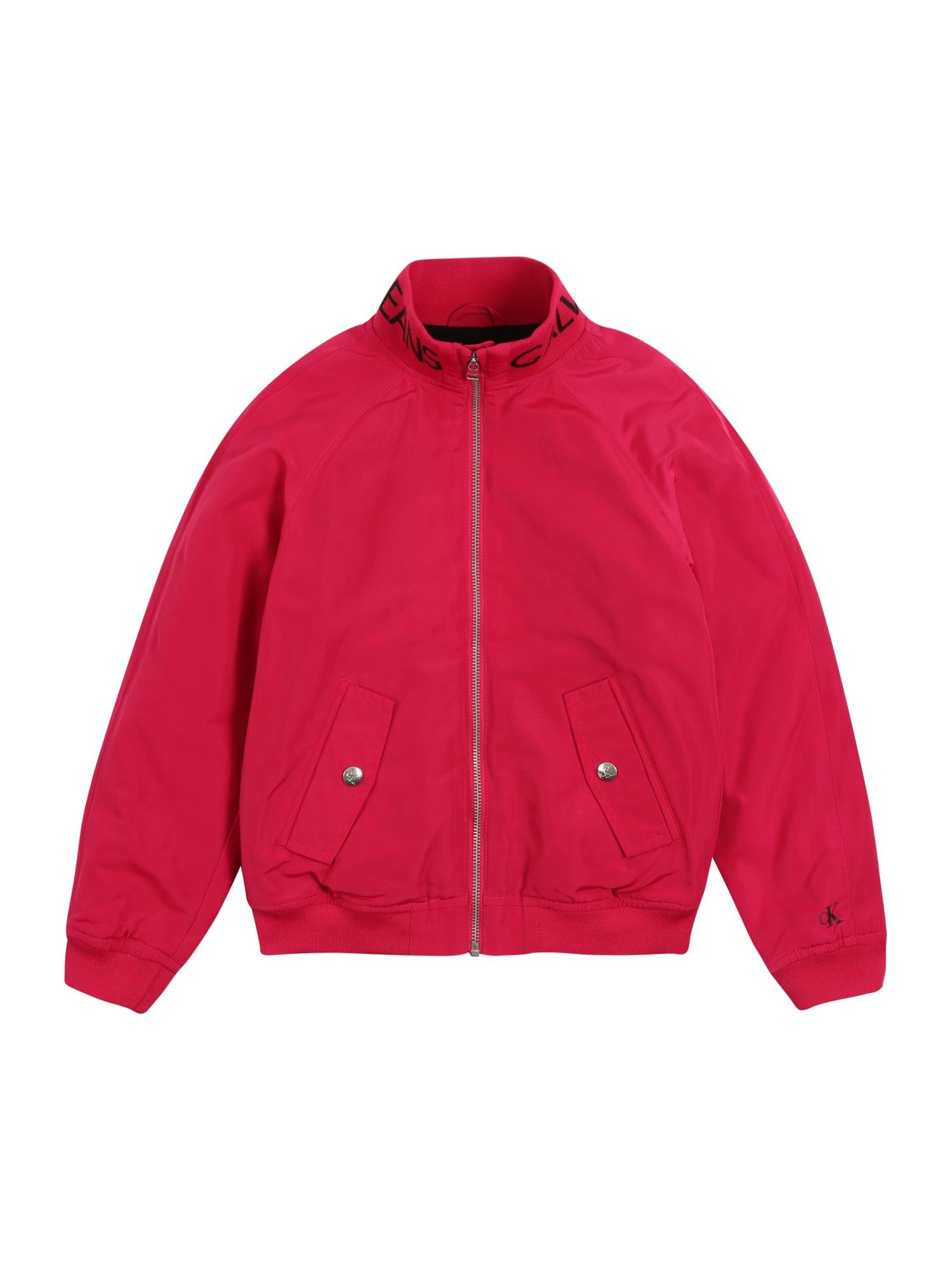 Calvin Klein Jeans Demisezoninė striukė 'LOGO BOMBER JACKET, TRZ, 12' fuchsijų spalva