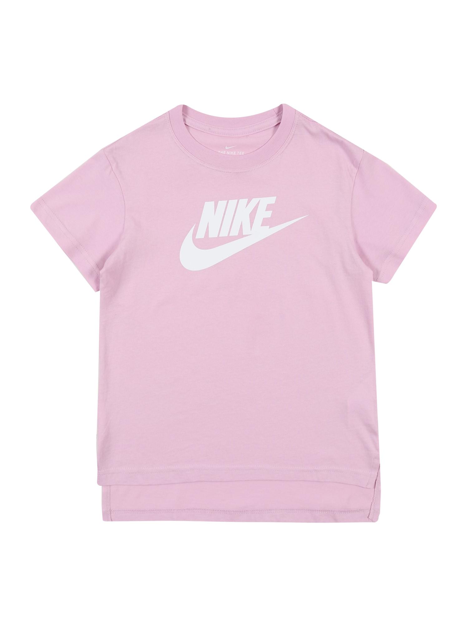 Nike Sportswear Tričko 'FUTURA'  pink / bílá