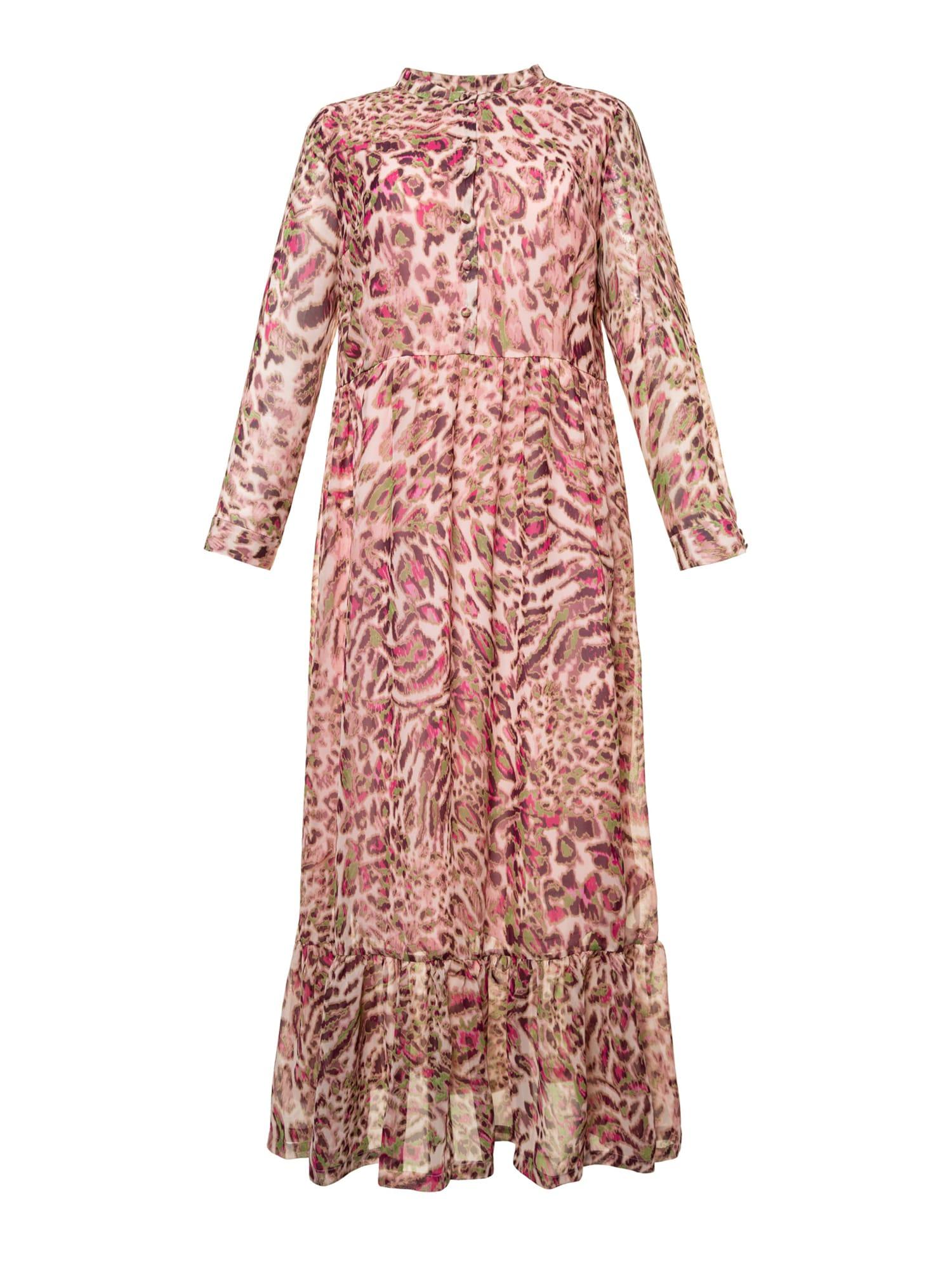 Košilové šaty zelená růžová Studio Untold