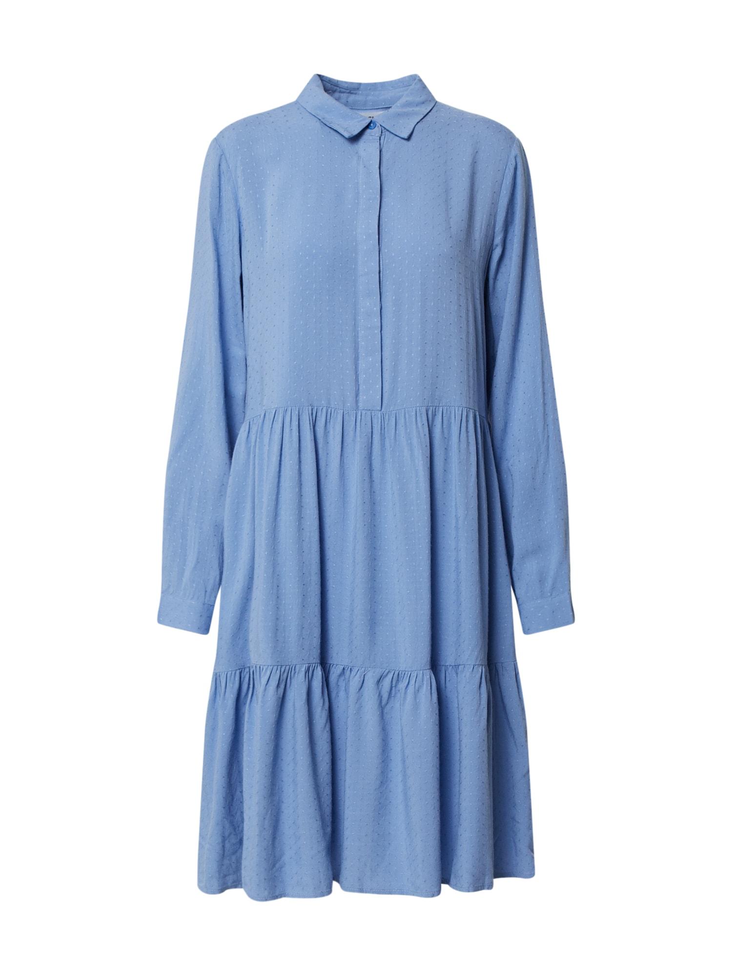 MOSS COPENHAGEN Košeľové šaty 'Karolina'  modré