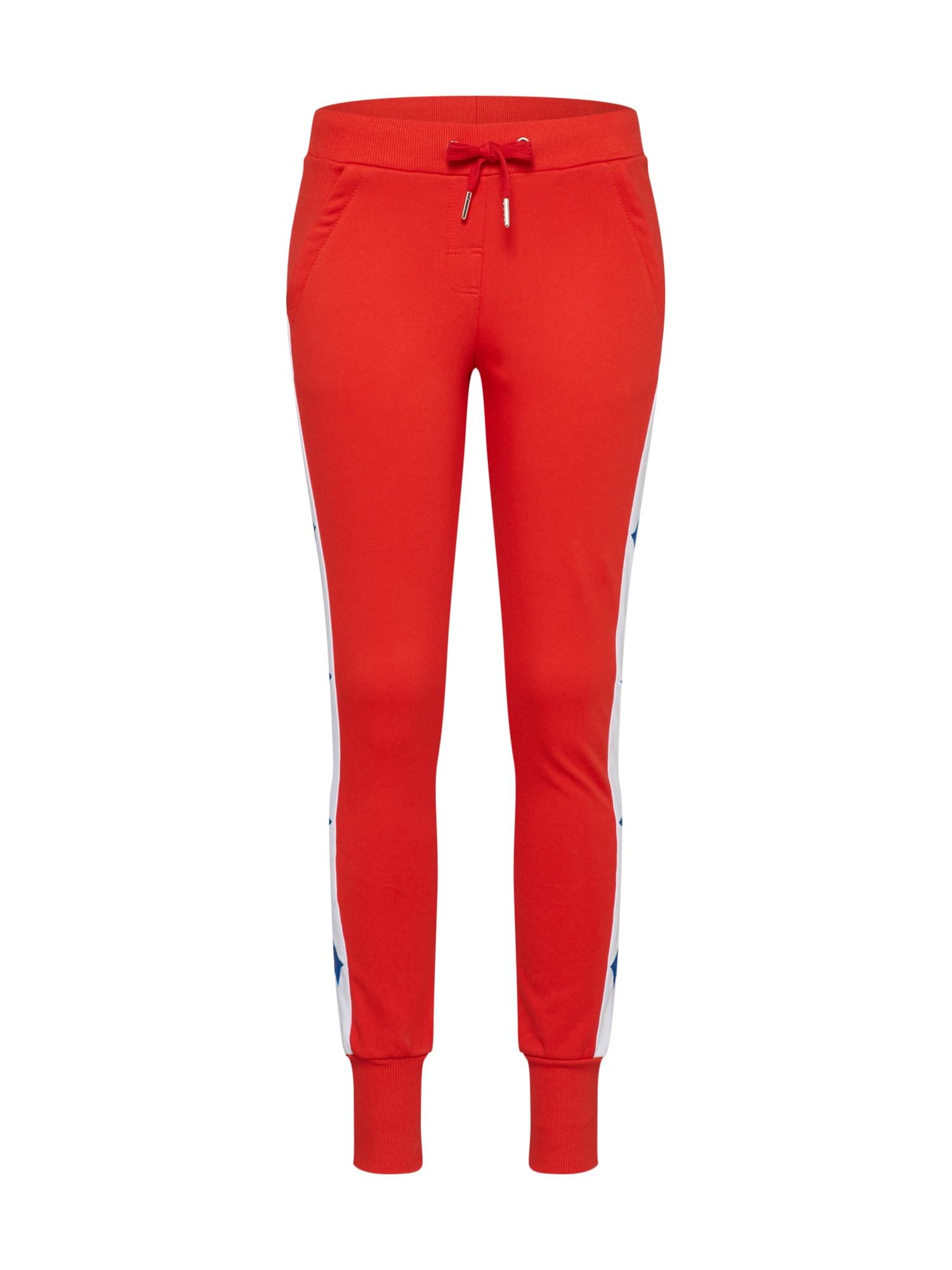 Kalhoty Stargirl červená Colourful Rebel