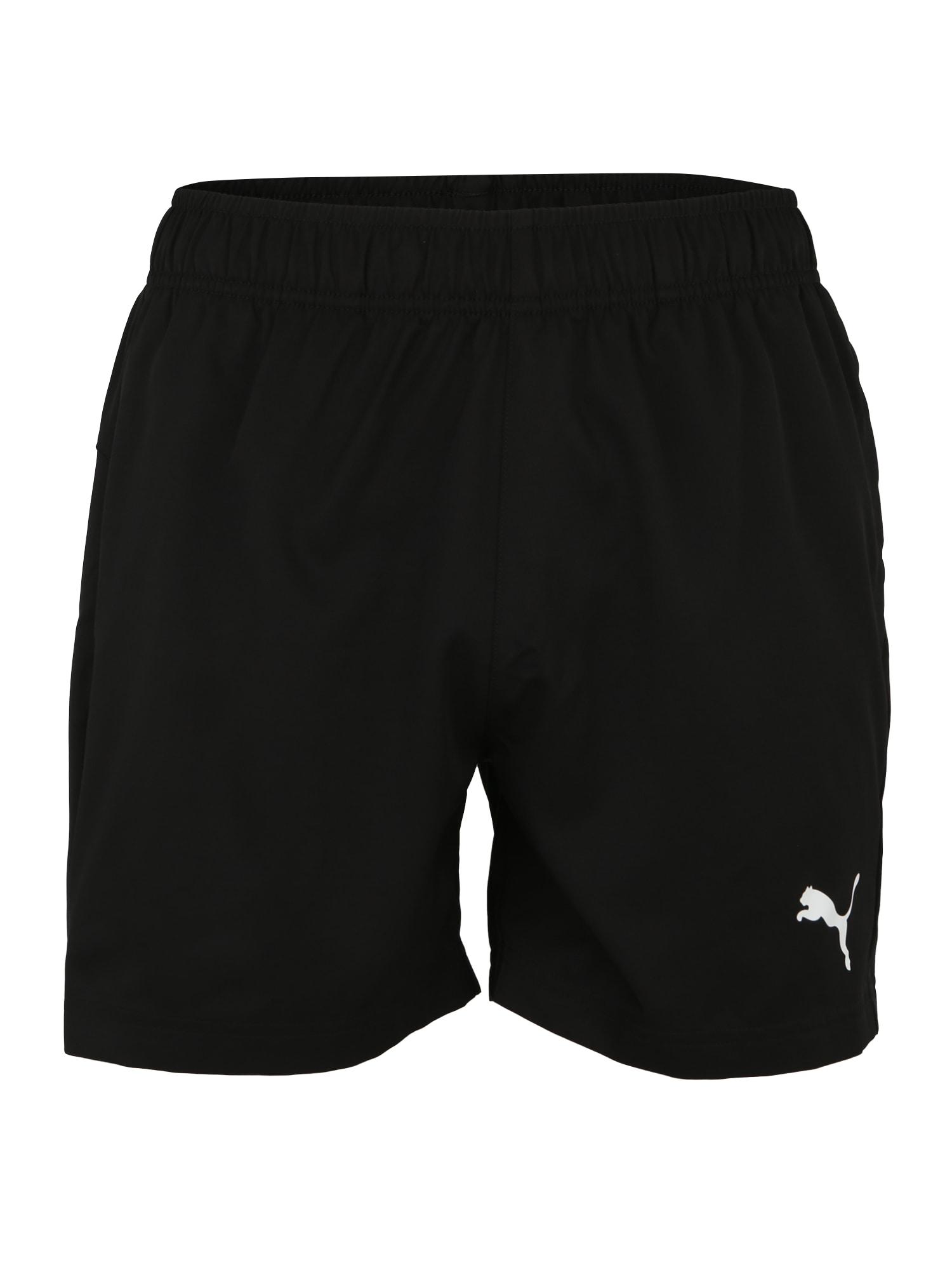 PUMA Športové nohavice 'Active'  biela / čierna