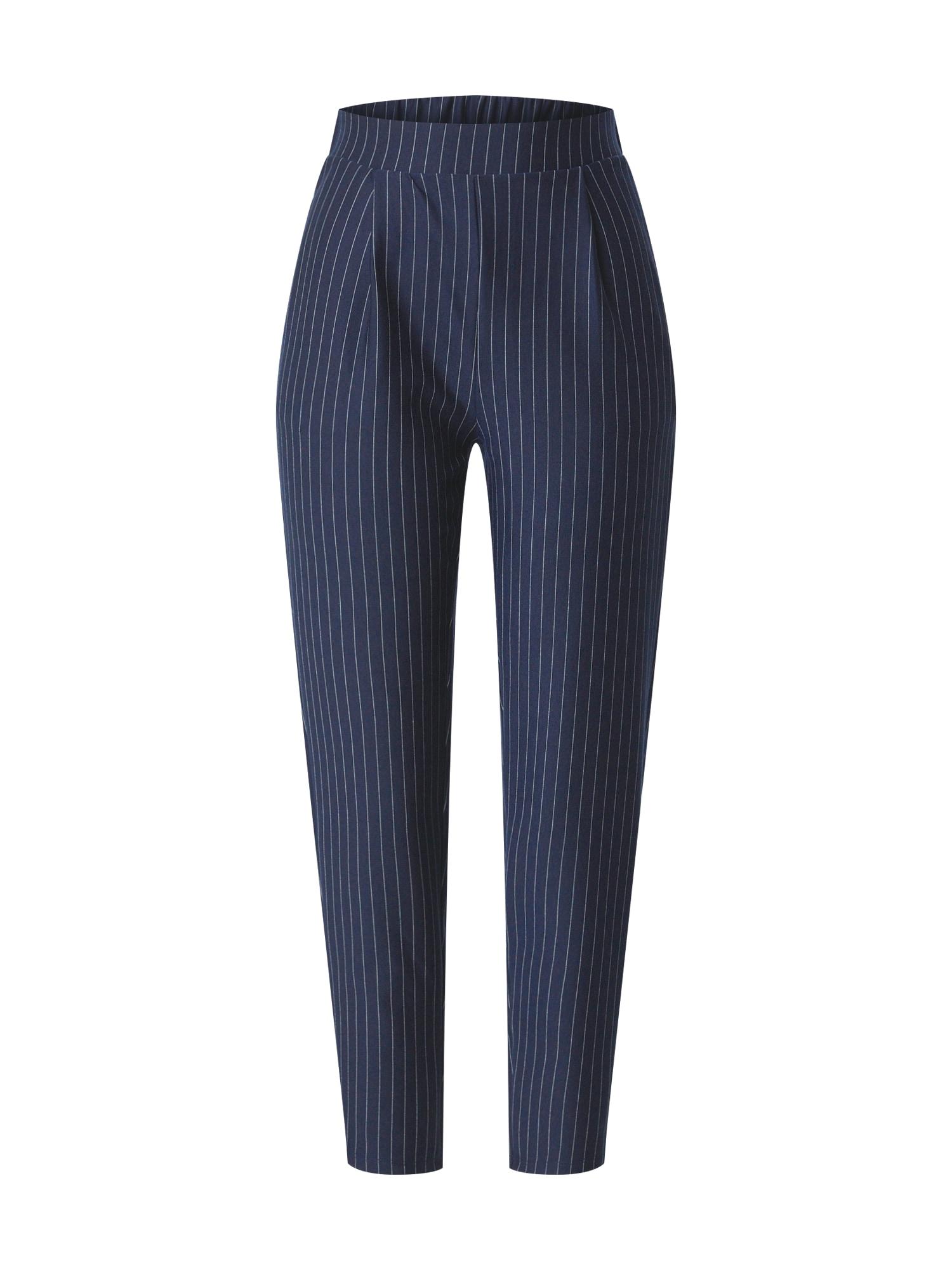 NEW LOOK Plisované nohavice  námornícka modrá / biela