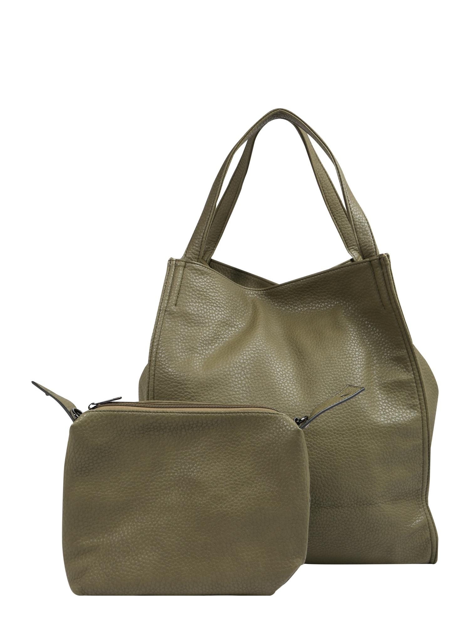 Nákupní taška olivová Mae & Ivy