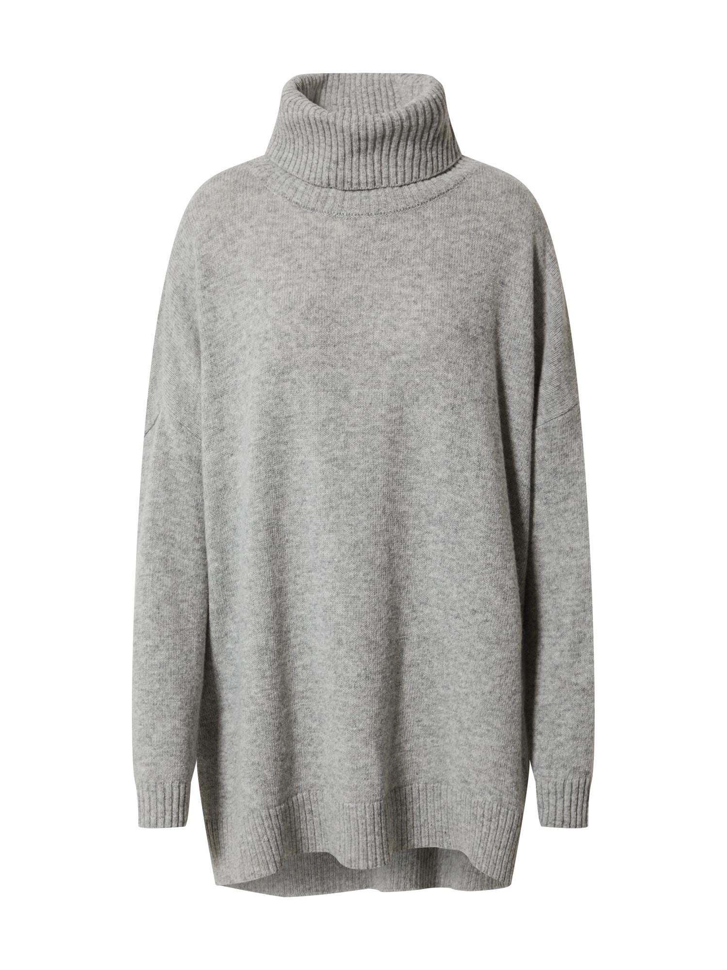 basic apparel Laisvas megztinis margai pilka