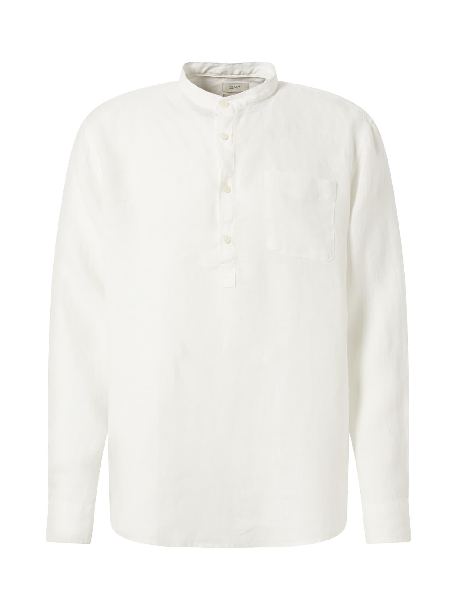 ESPRIT Dalykiniai marškiniai balkšva