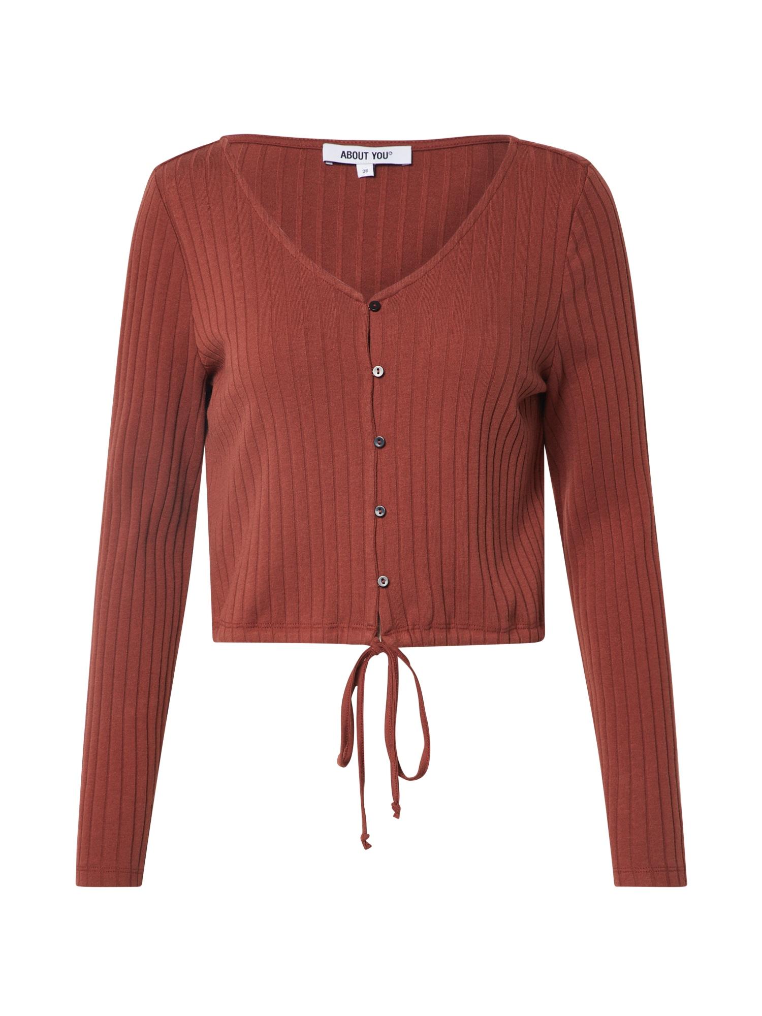 ABOUT YOU Marškinėliai 'Nora' ruda