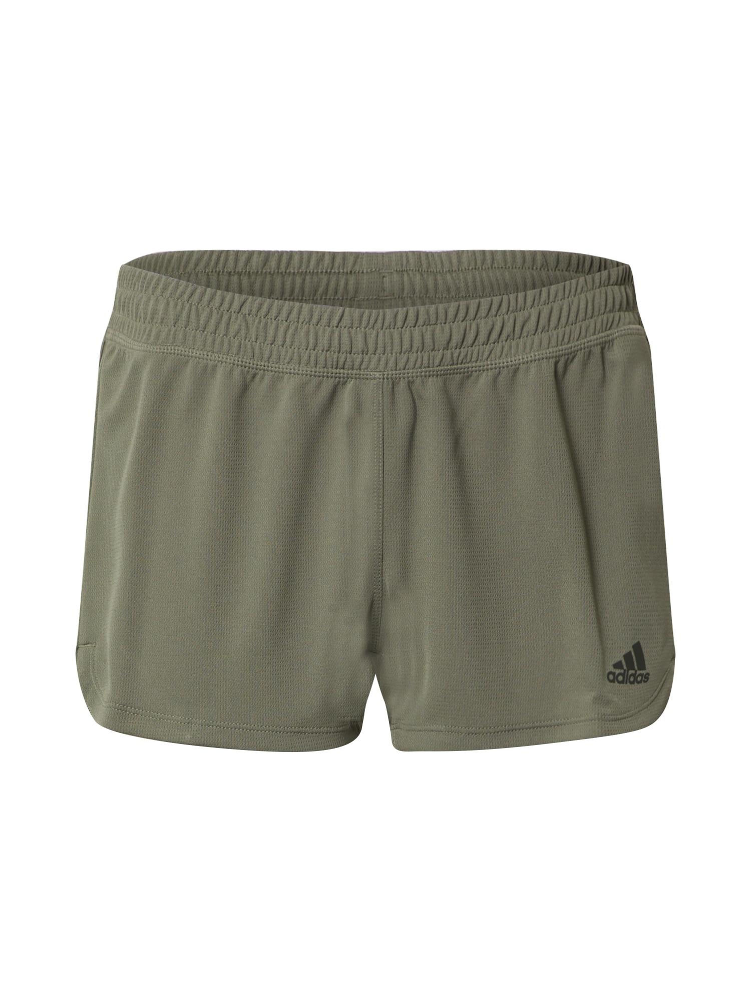 ADIDAS PERFORMANCE Sportinės kelnės 'PACER 3S KNIT' alyvuogių spalva