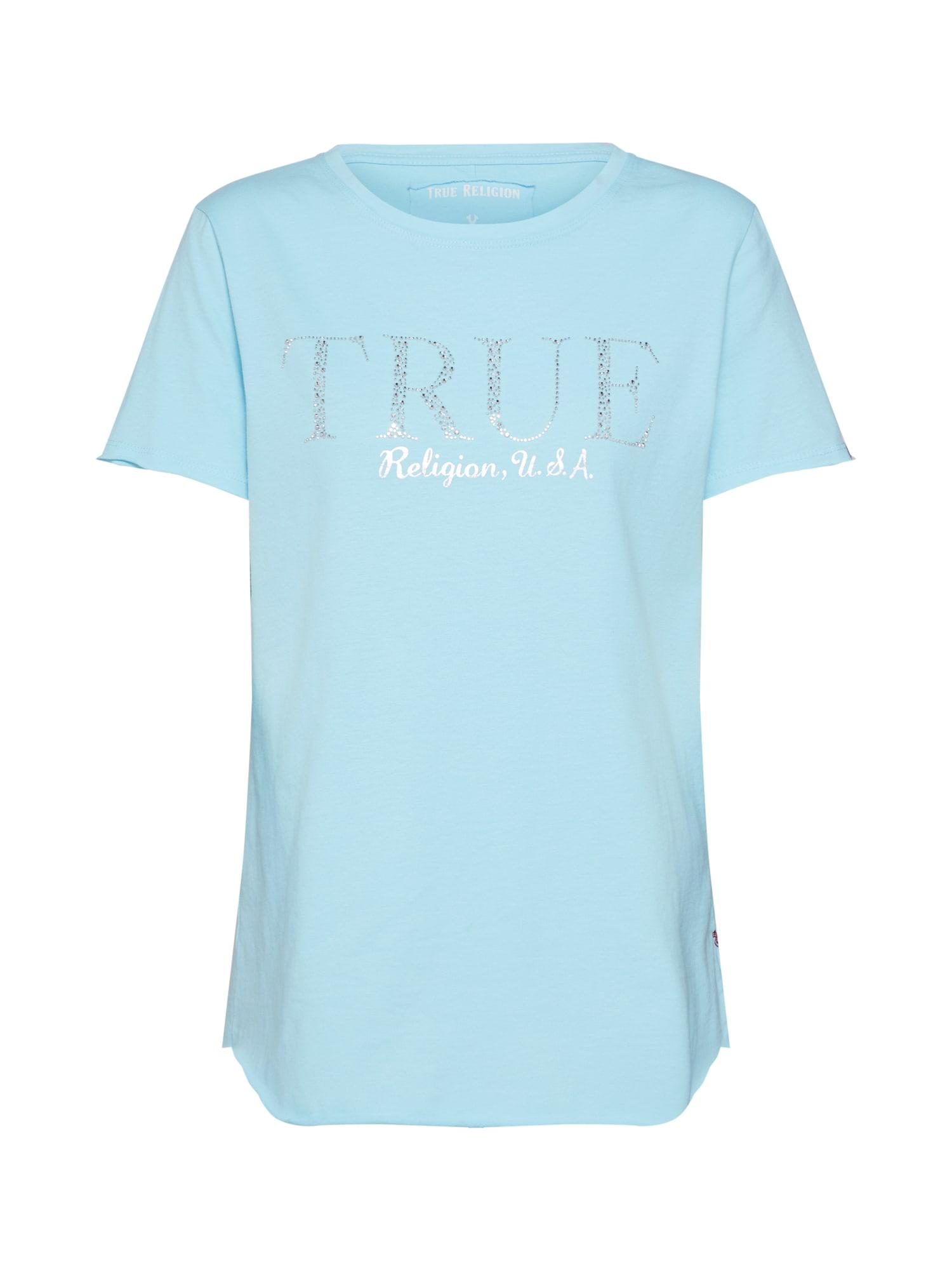 Tričko BOXY CREW SHIRT TRUE USA modrá True Religion