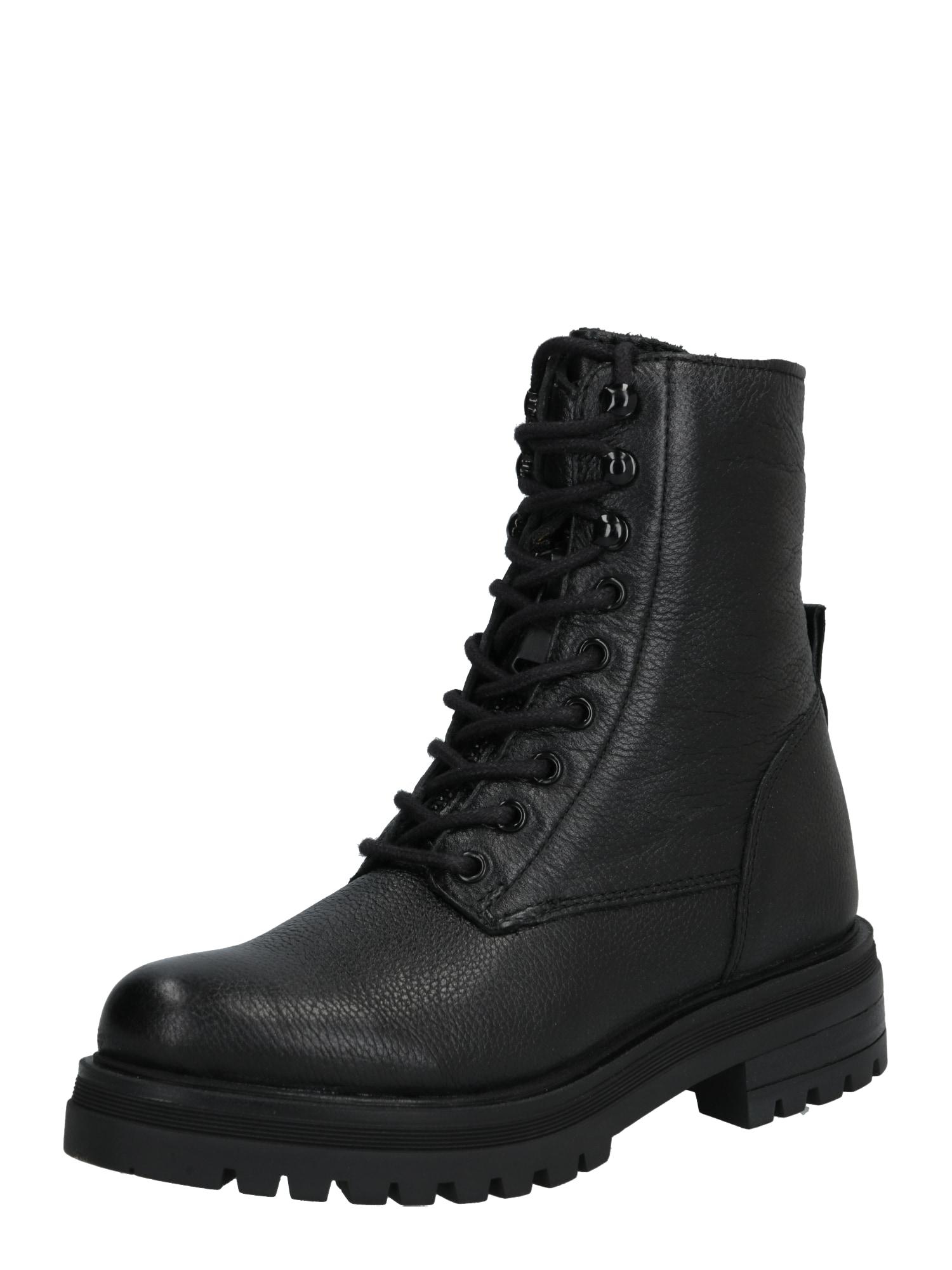 PS Poelman Suvarstomieji kulkšnis dengiantys batai juoda