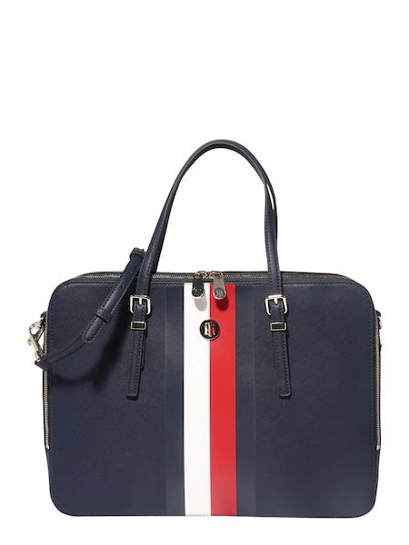 Businesstaschen für Frauen - TOMMY HILFIGER Laptoptasche 'HONEY COMPUTER BAG CORP' blau rot weiß  - Onlineshop ABOUT YOU