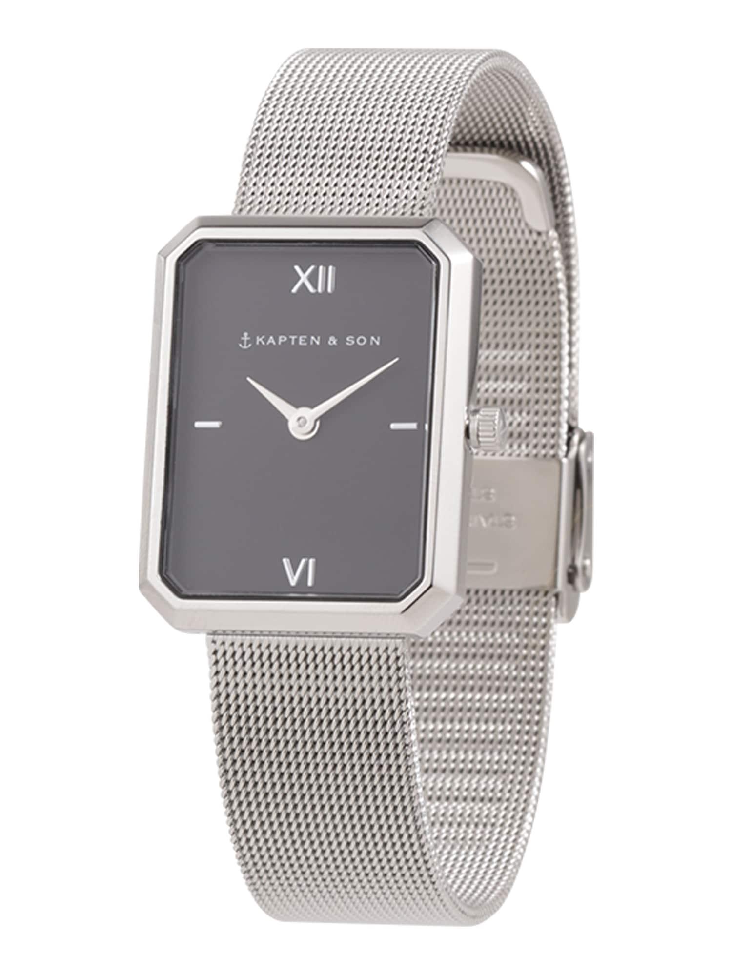 Kapten & Son Analoginis (įprastinio dizaino) laikrodis 'Grace Mesh ' juoda / sidabras