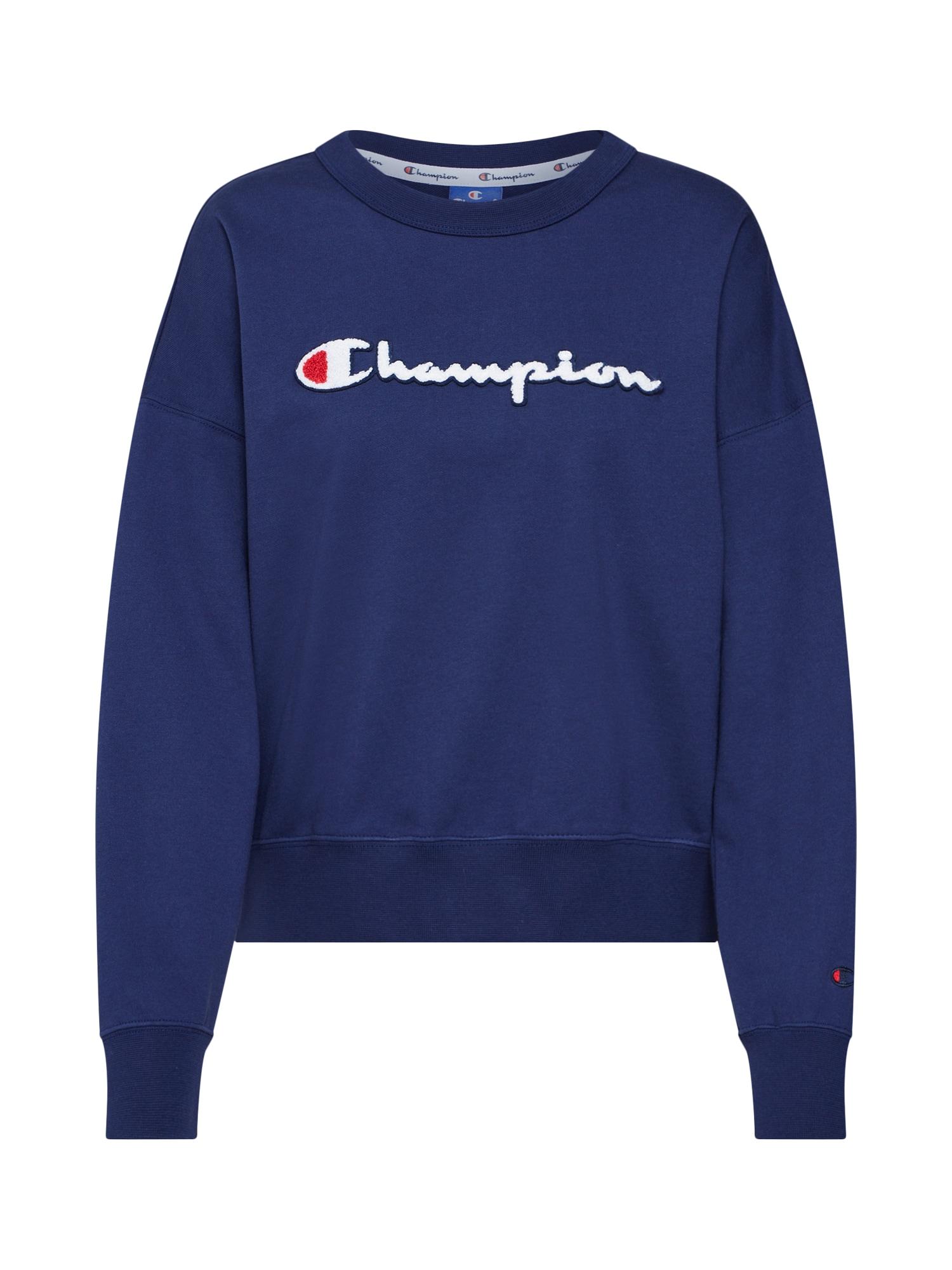 Mikina Rochester Crewneck Sweatshirt námořnická modř červená bílá Champion Authentic Athletic Apparel