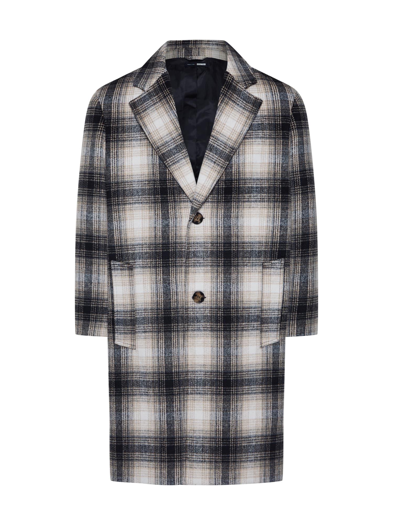 ABOUT YOU x Magic Fox Rudeninis-žieminis paltas 'Rafael' smėlio / juoda / balta