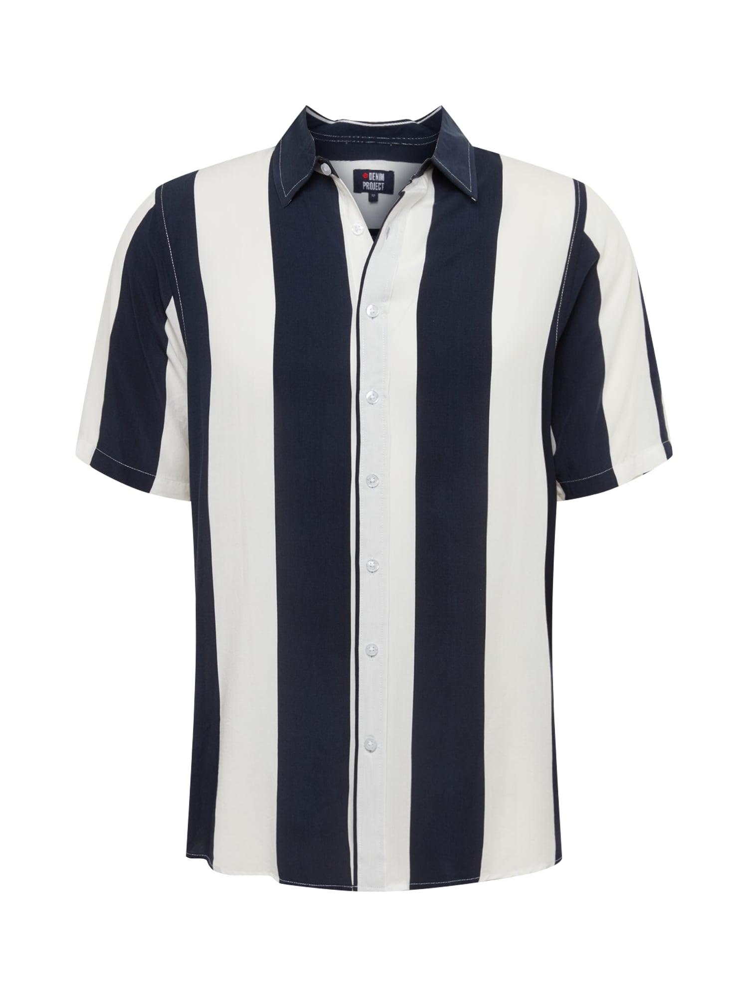 Denim Project Dalykiniai marškiniai mėlyna / balta