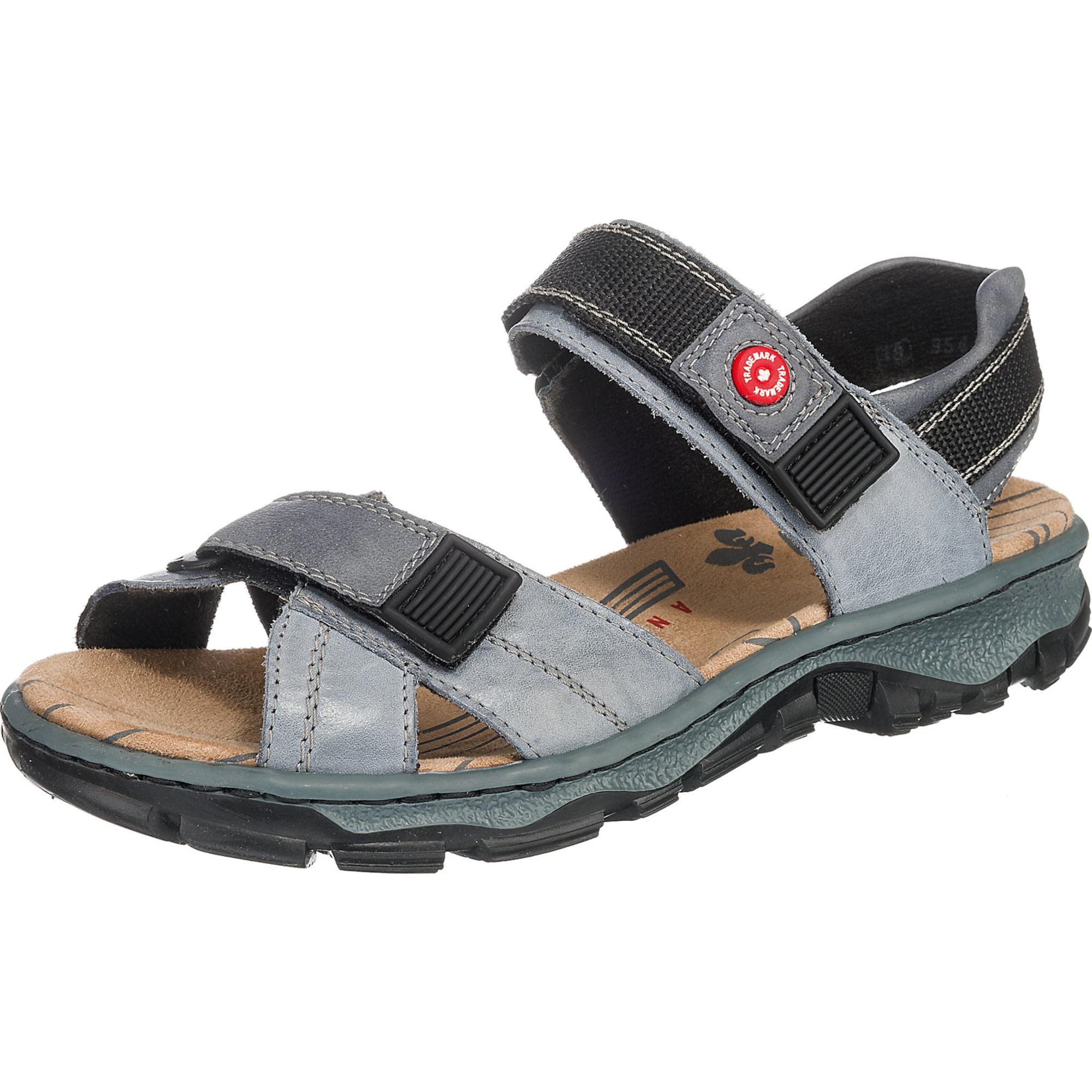 RIEKER Sportinio tipo sandalai melsvai pilka / juoda