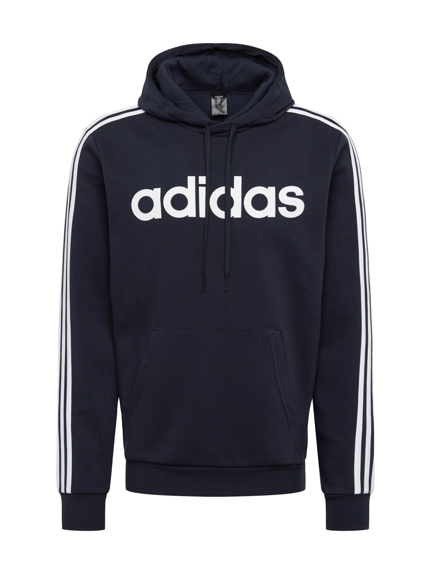 ADIDAS PERFORMANCE Sportinio tipo megztinis tamsiai mėlyna / balta