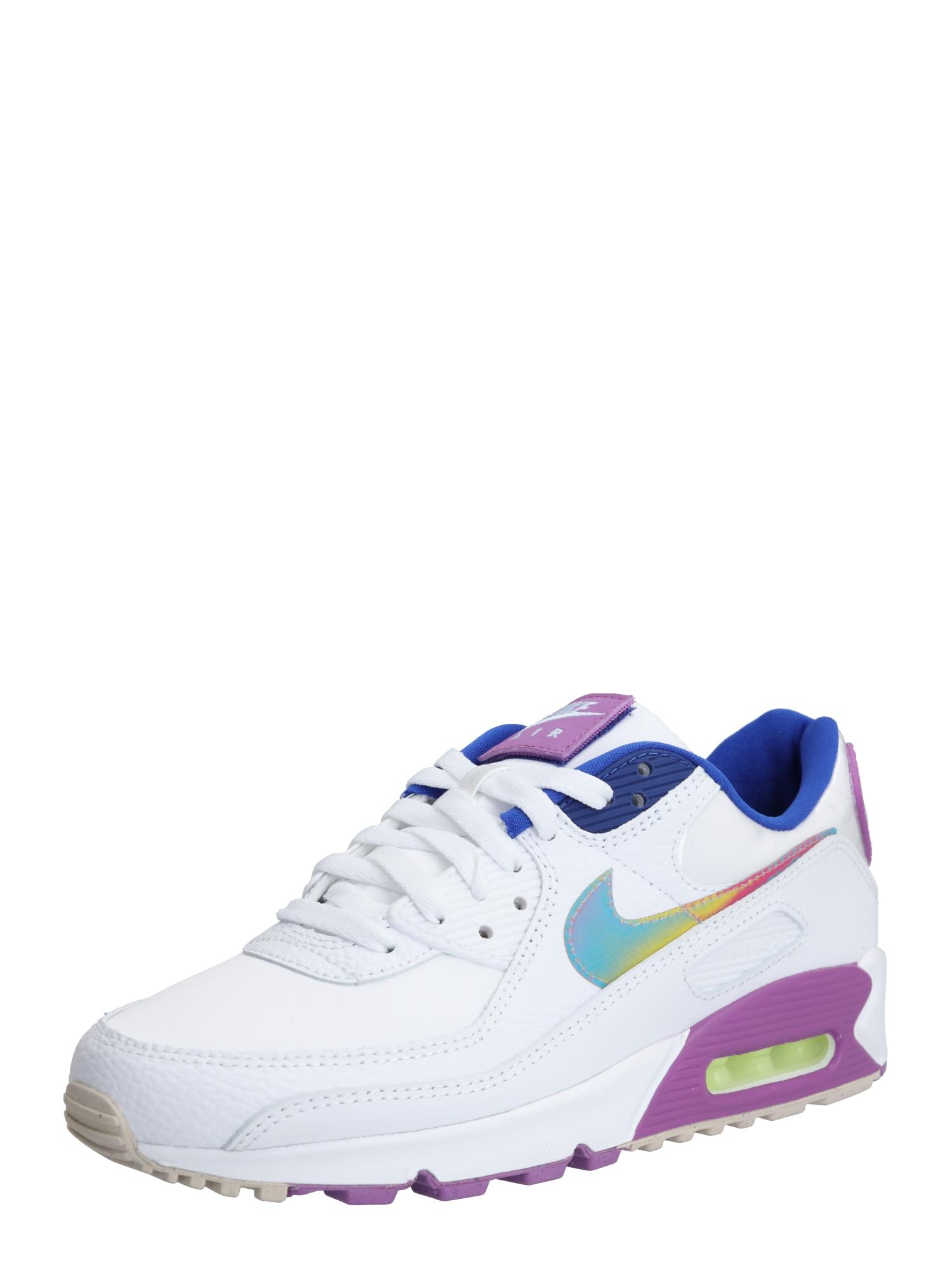 Nike Sportswear Sportbačiai be auliuko 'Air Max 90 SE' purpurinė / tamsiai mėlyna / balta