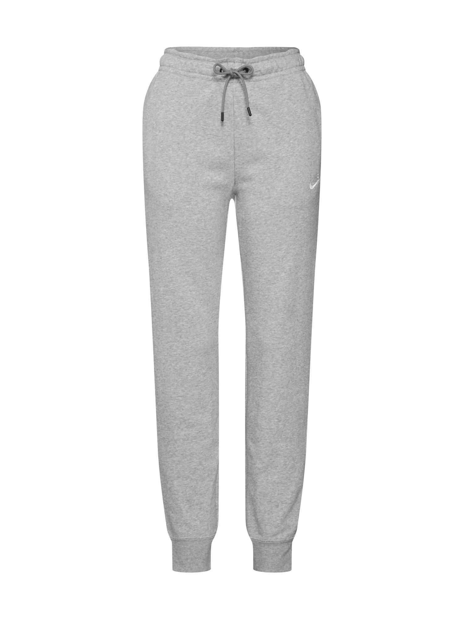 Nike Sportswear Kelnės pilka / balta