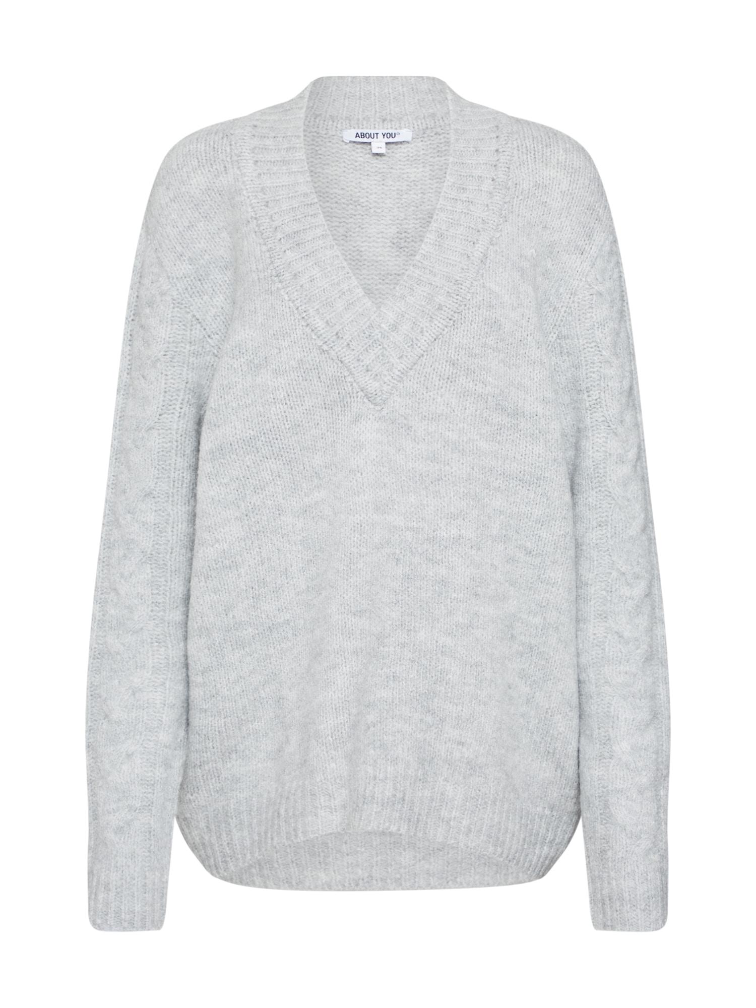 ABOUT YOU Megztinis 'Milena' šviesiai pilka