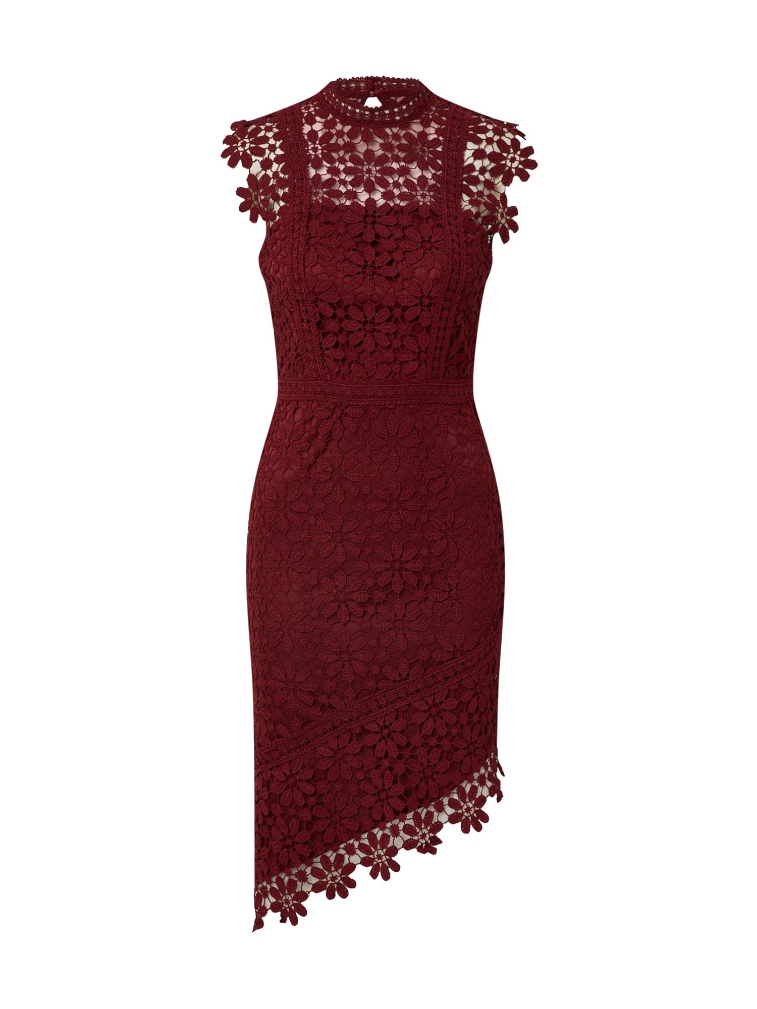 Chi Chi London Kokteilinė suknelė 'Daryl' vyno raudona spalva