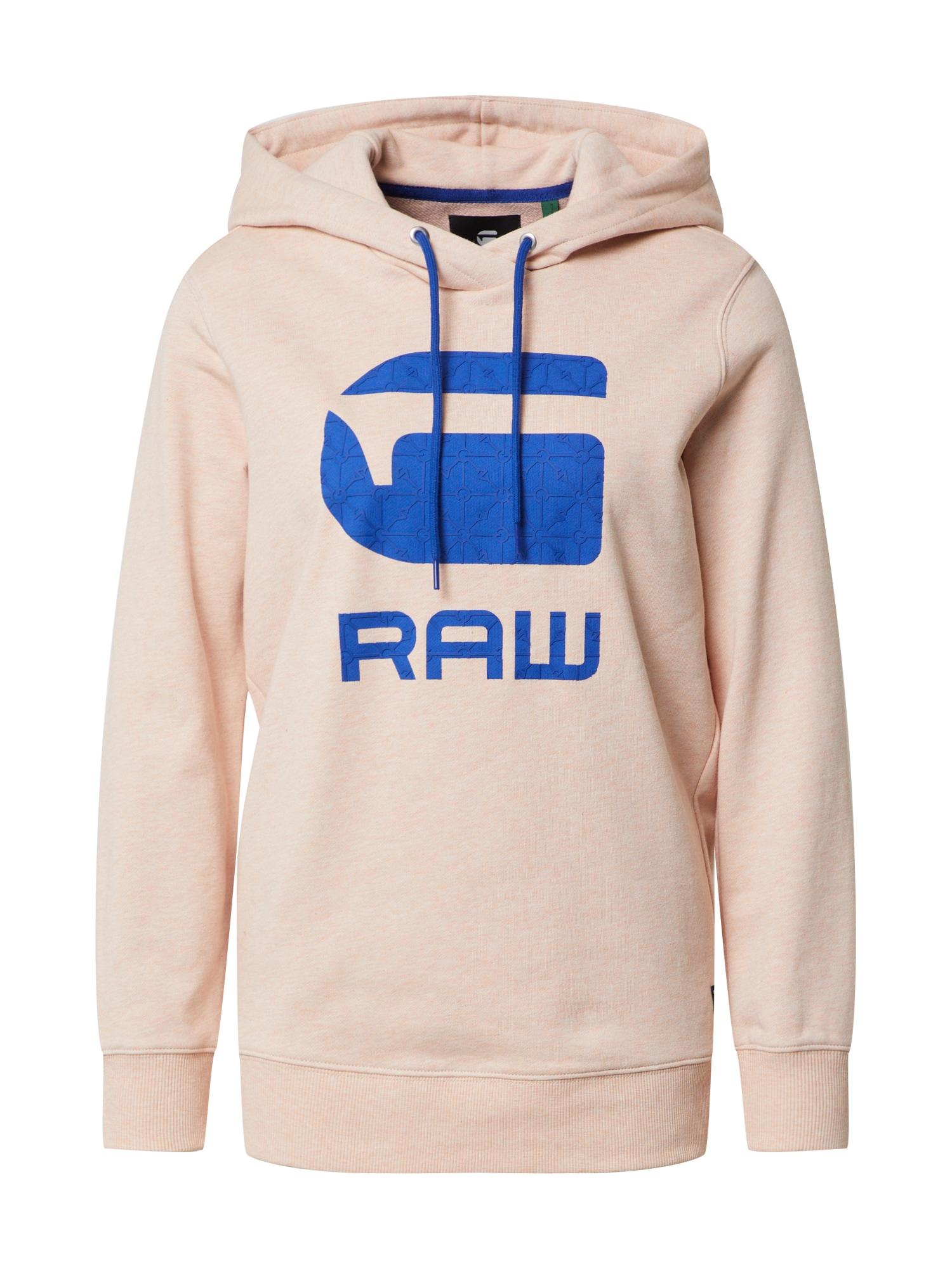 G-Star RAW Megztinis be užsegimo 'Boyfriend' mėlyna / lašišų spalva