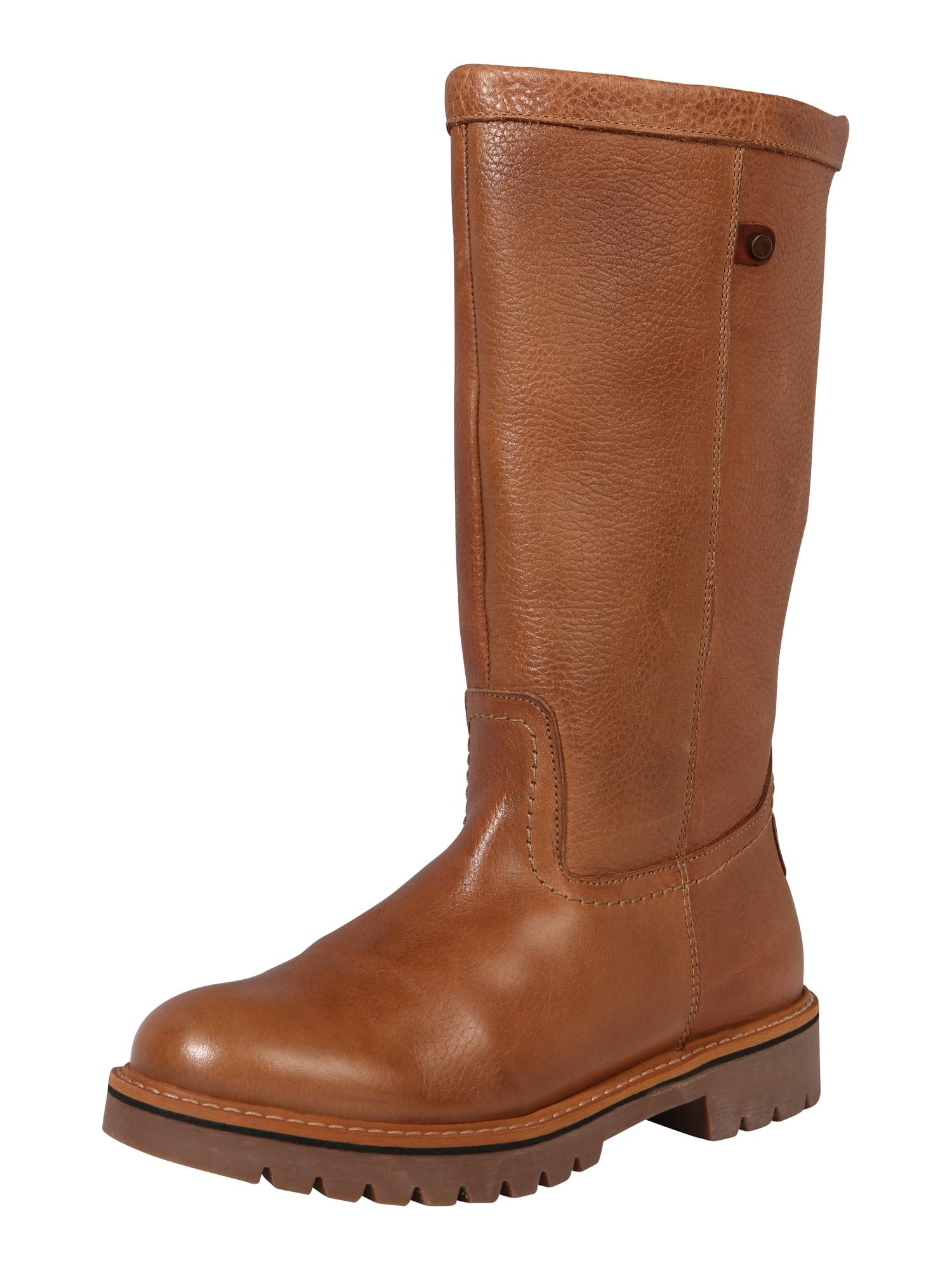 BULLBOXER Auliniai batai su kulniuku šviesiai ruda