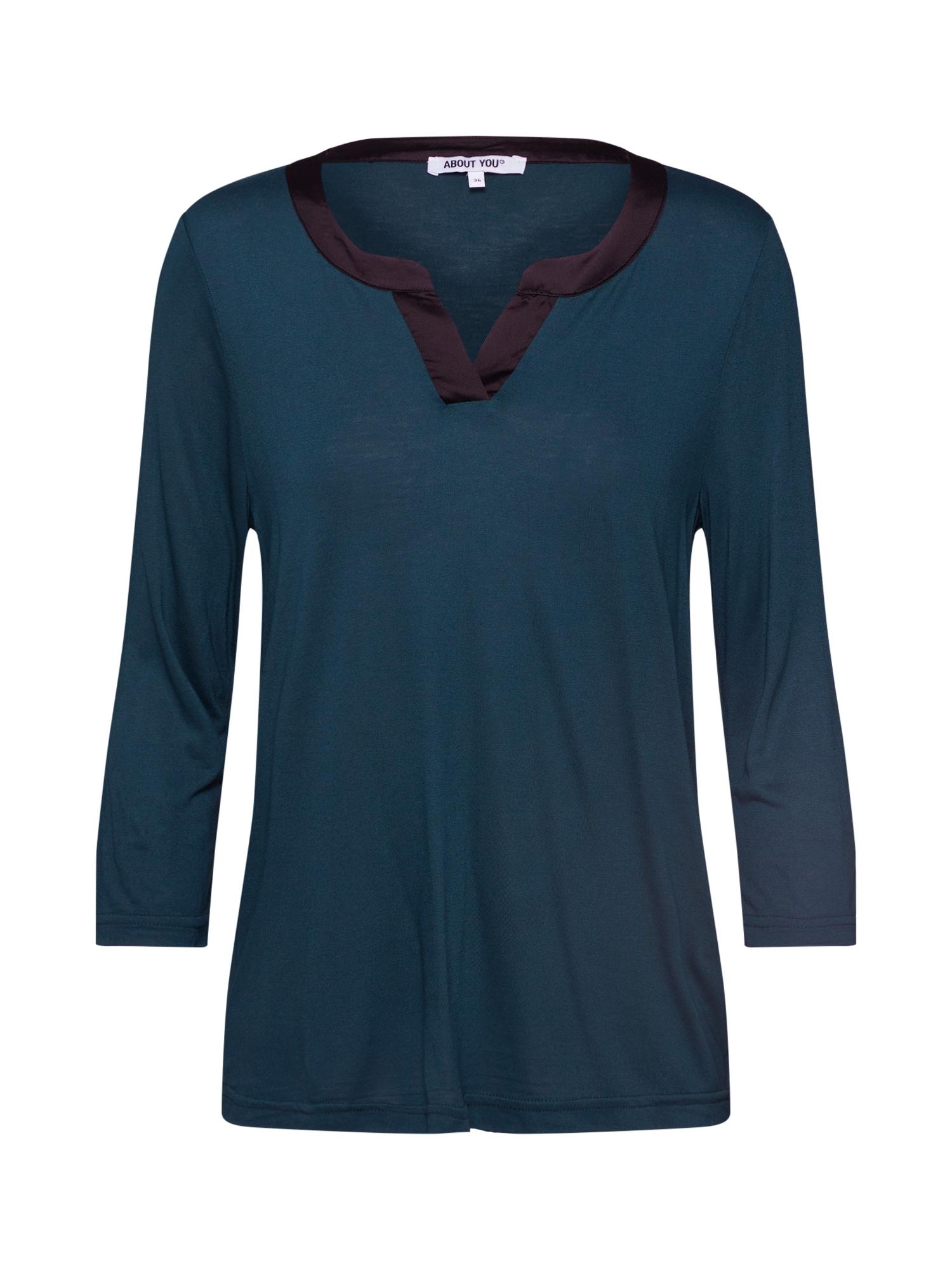ABOUT YOU Marškinėliai 'Maxime' mėlyna / juoda