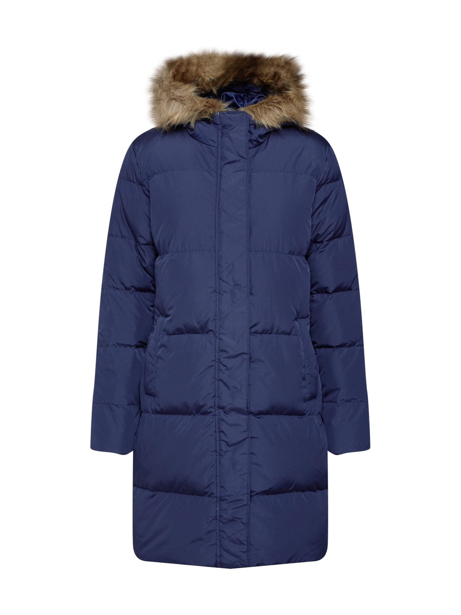 GAP Žieminis paltas 'V-LONG DOWN PUFFER' tamsiai mėlyna