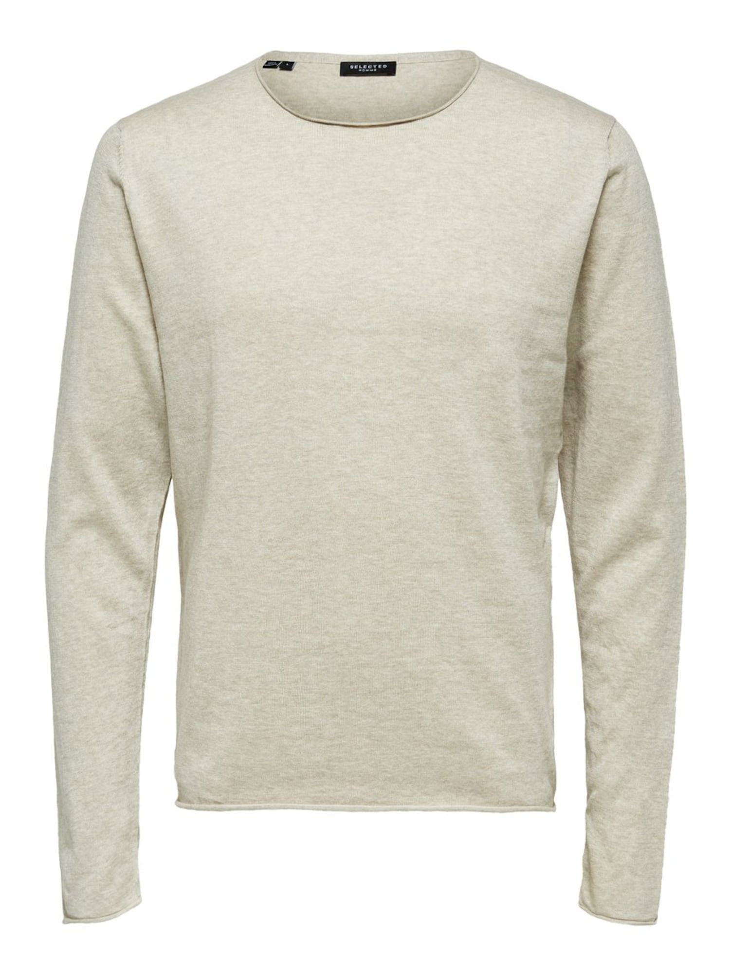 SELECTED HOMME Sveter 'SHDDOME CREW NECK NOOS'  pieskový