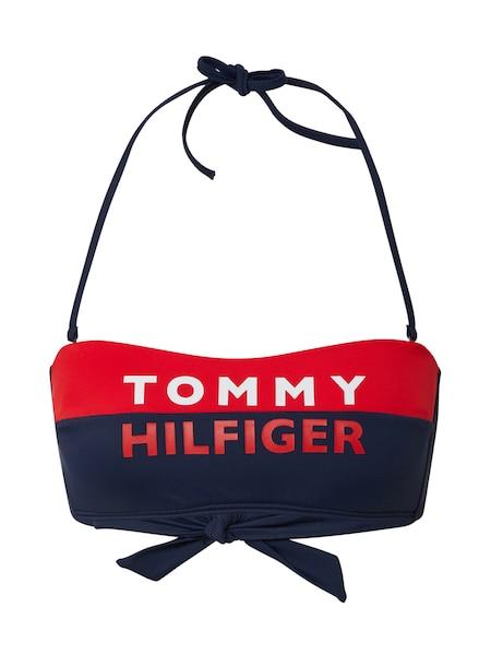 Bademode - Bikinitop 'FIXED BANDEAU' › Tommy Hilfiger Underwear › weiß rot blau  - Onlineshop ABOUT YOU