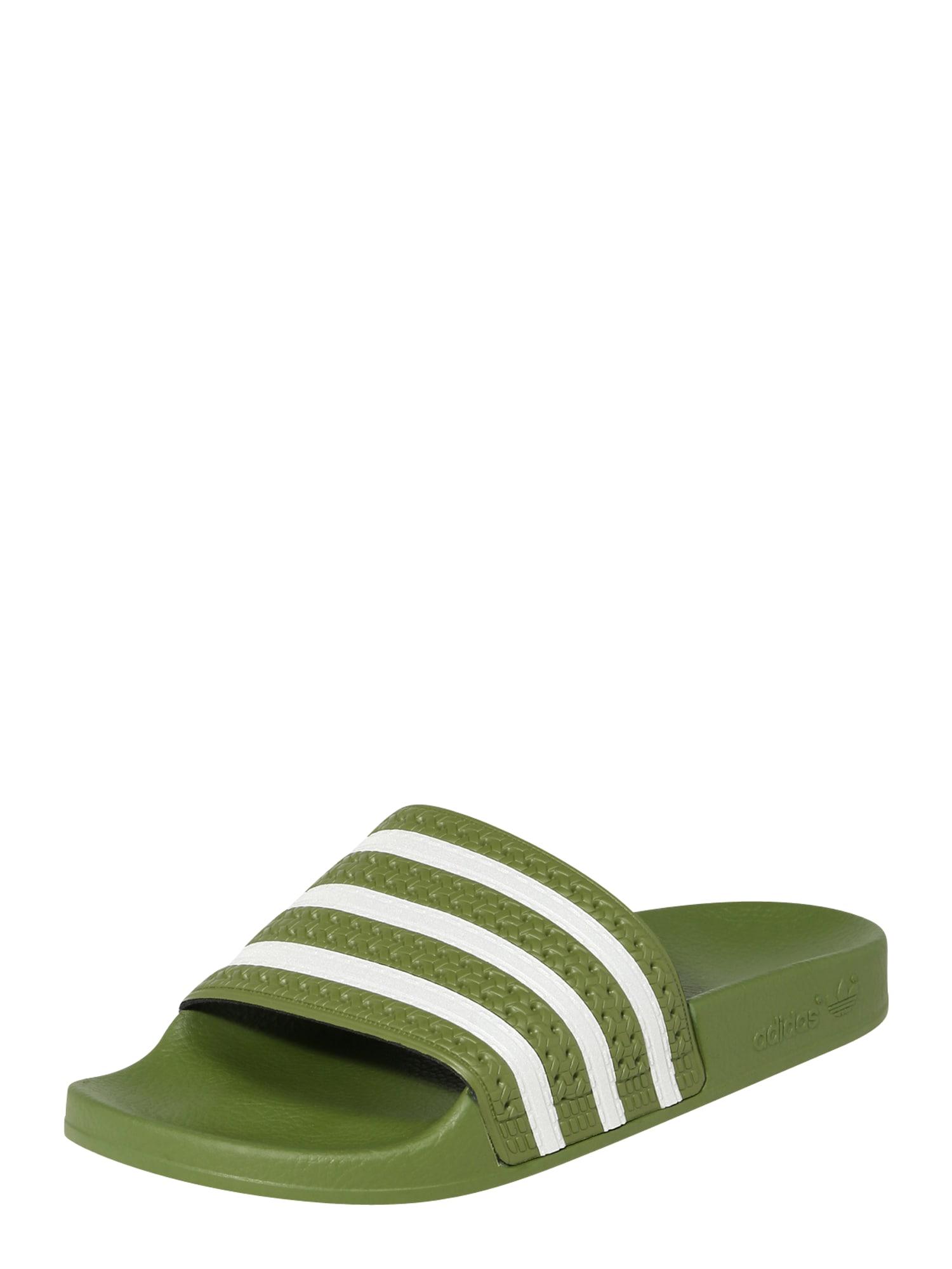 ADIDAS ORIGINALS Pantofle 'Adilette'  olivová / bílá