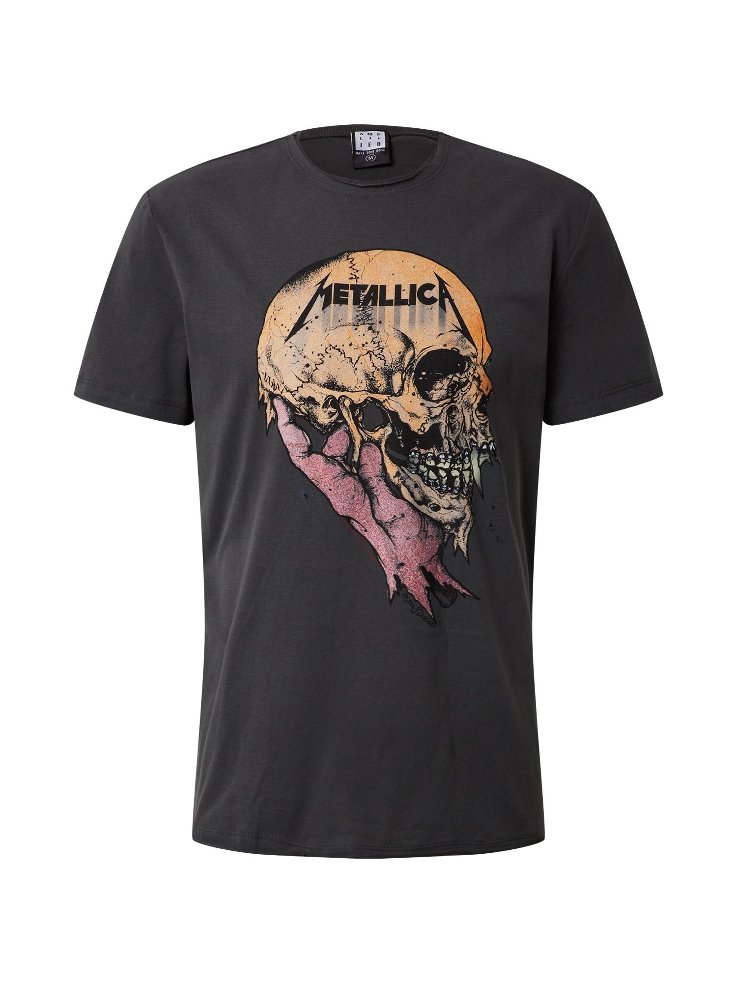 AMPLIFIED Marškinėliai 'METALLICA SAD BUT TRUE' tamsiai pilka