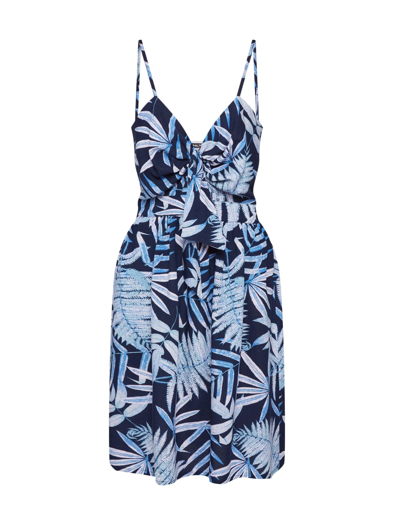 Letní šaty onlAMALIA modrá ONLY