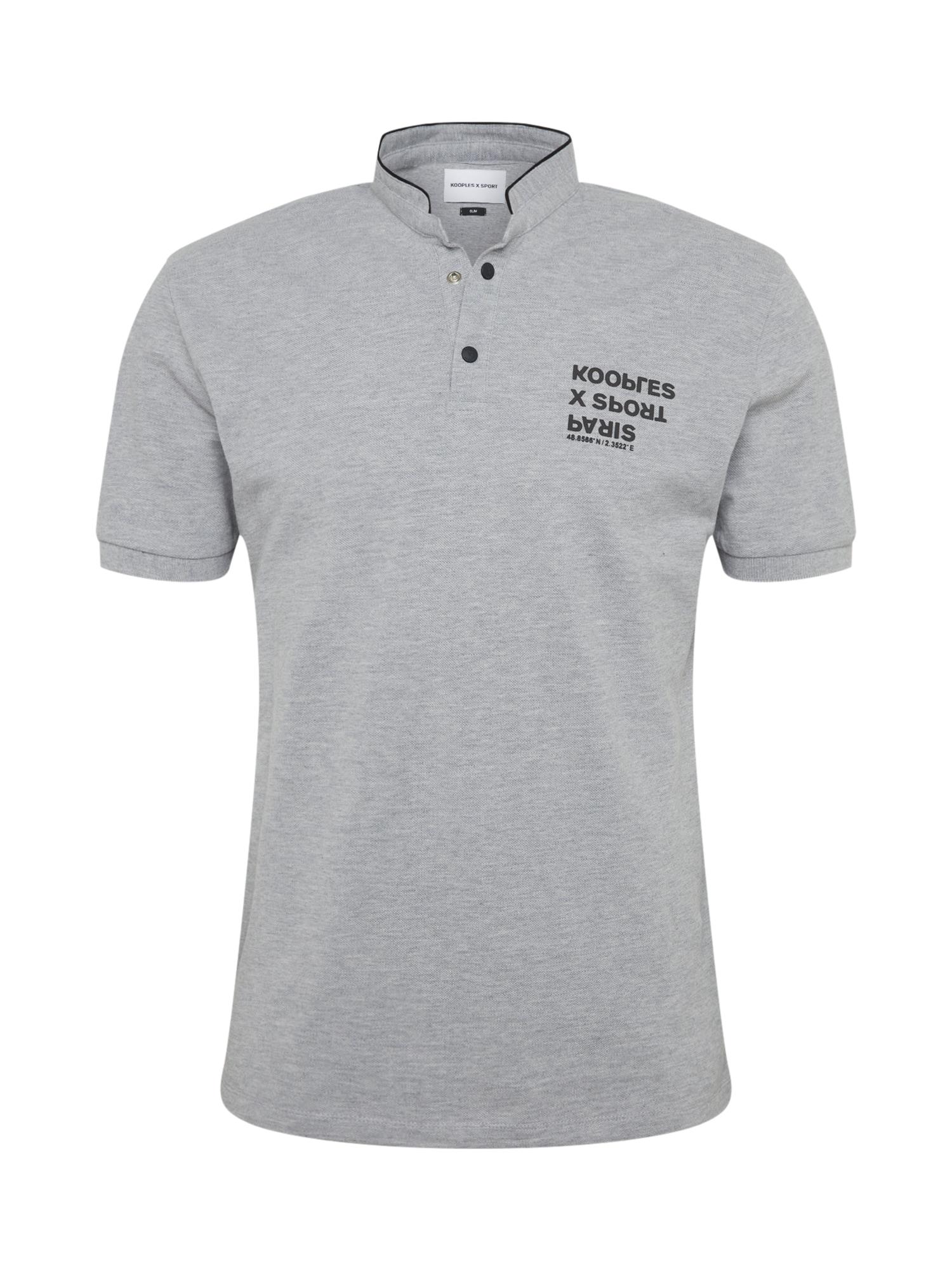 THE KOOPLES SPORT Marškinėliai margai pilka / juoda