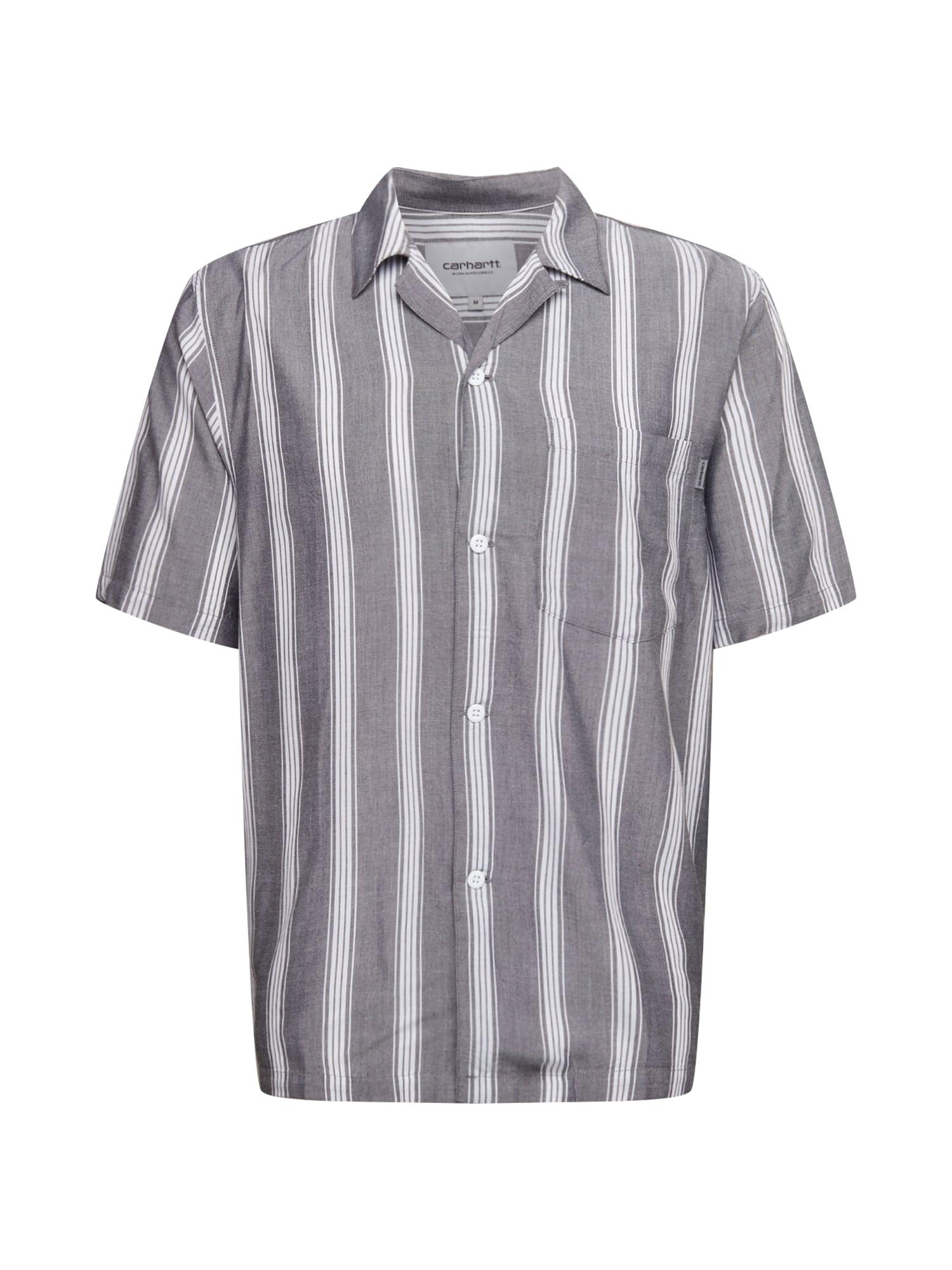 Carhartt WIP Dalykiniai marškiniai 'Chester' balta / tamsiai pilka