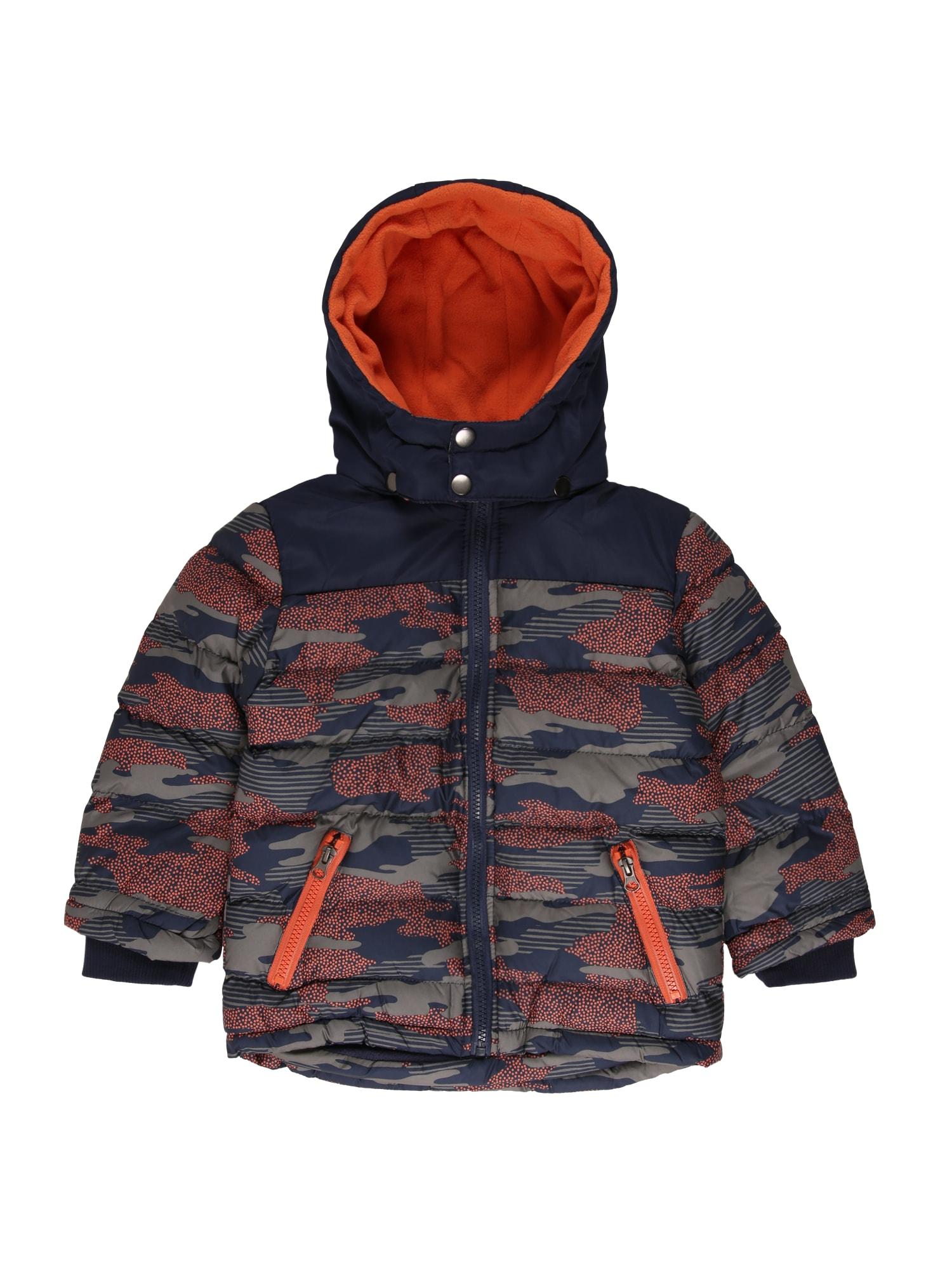 BLUE SEVEN Zimná bunda  tmavomodrá / tmavooranžová / tmavošedá