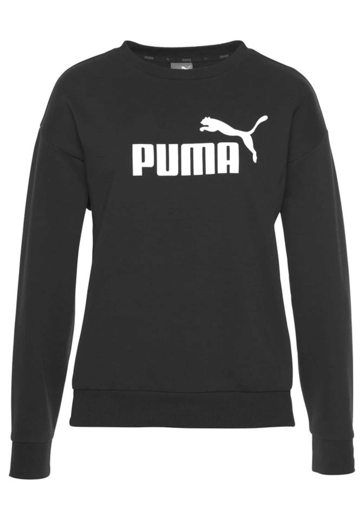 PUMA Sportinio tipo megztinis 'Essentials' balta / juoda