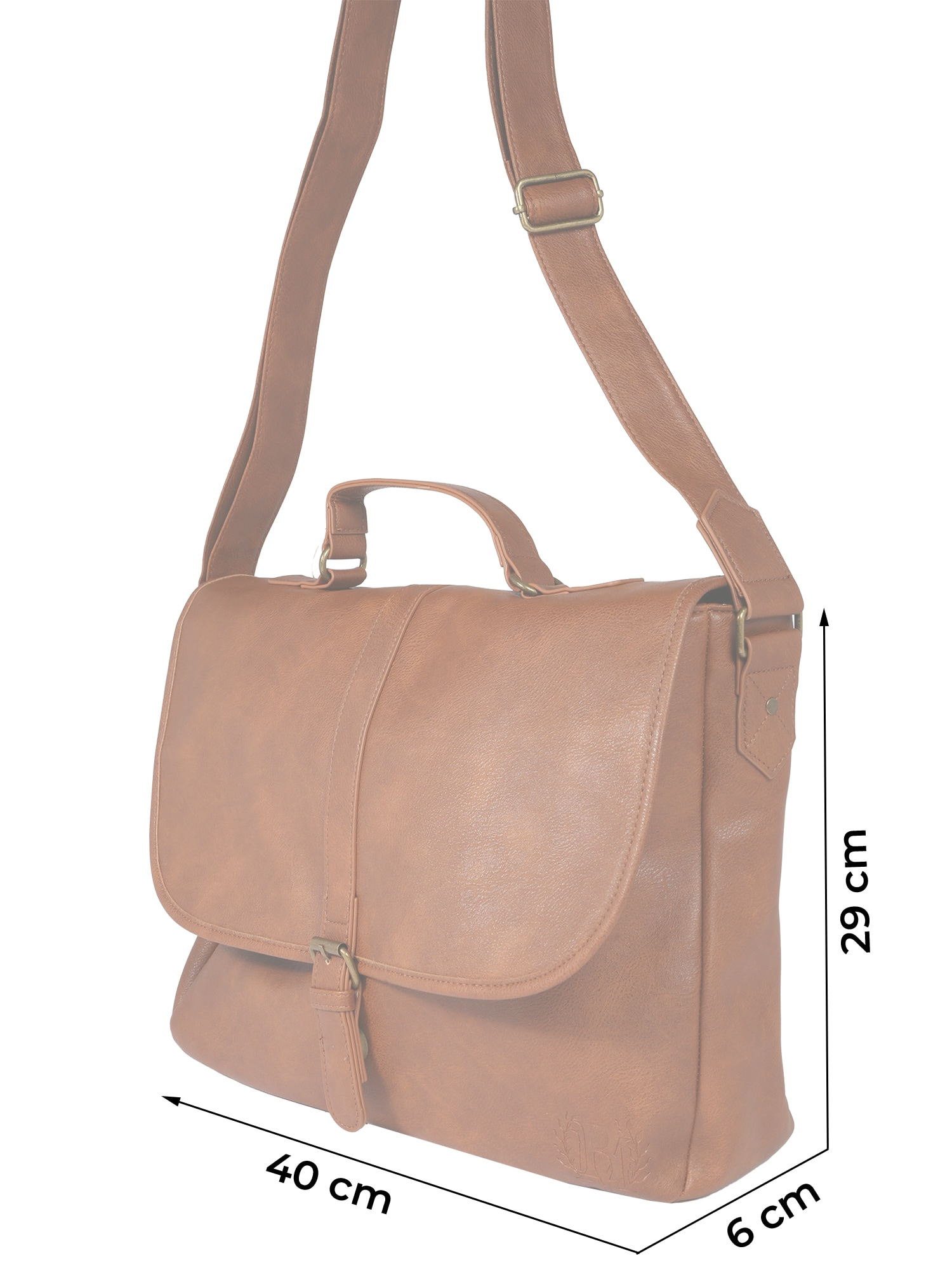 burton menswear london - Tasche 'TAN PU MESSENGER    '