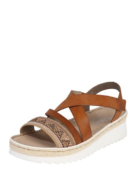 Sandalen für Frauen - RIEKER Sandalette braun  - Onlineshop ABOUT YOU