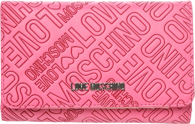 Love Moschino Portemonnaie mit allover Label-Prägung