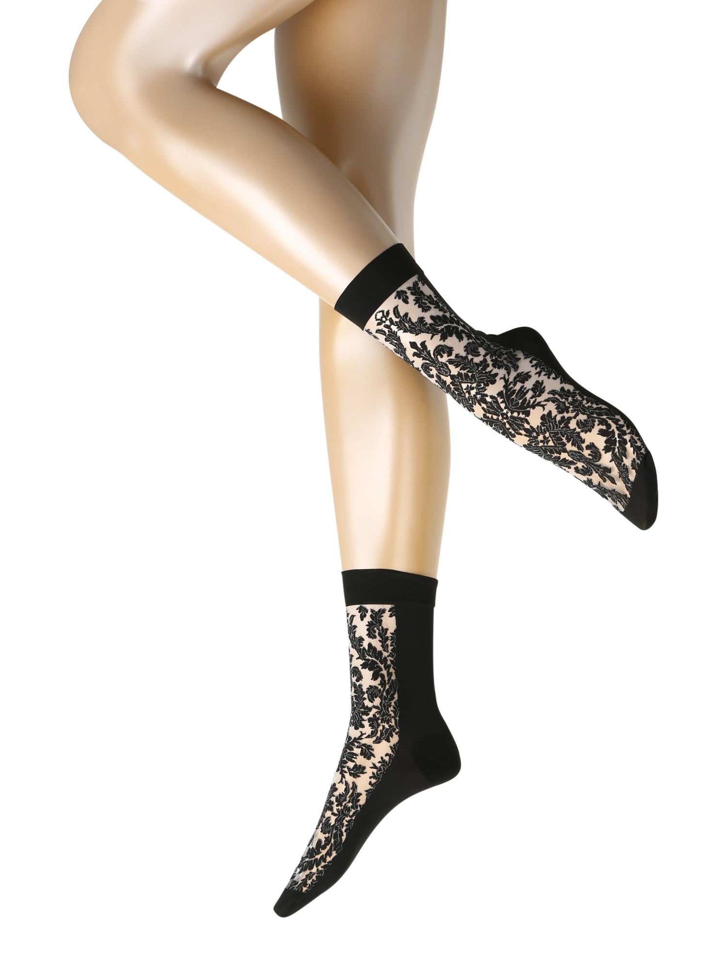 Wolford Kojinės 'Diana' balta / juoda