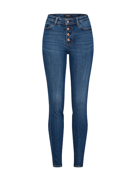 Hosen für Frauen - GUESS Jeans '1981 EXPOSED BUTTON' blue denim  - Onlineshop ABOUT YOU