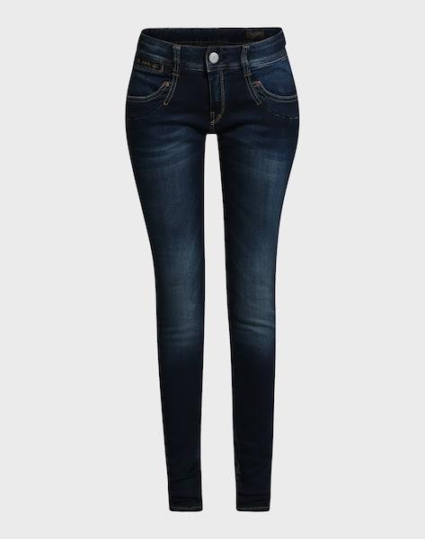 herrlicher 39 piper 39 slim fit jeans in blue denim about you. Black Bedroom Furniture Sets. Home Design Ideas