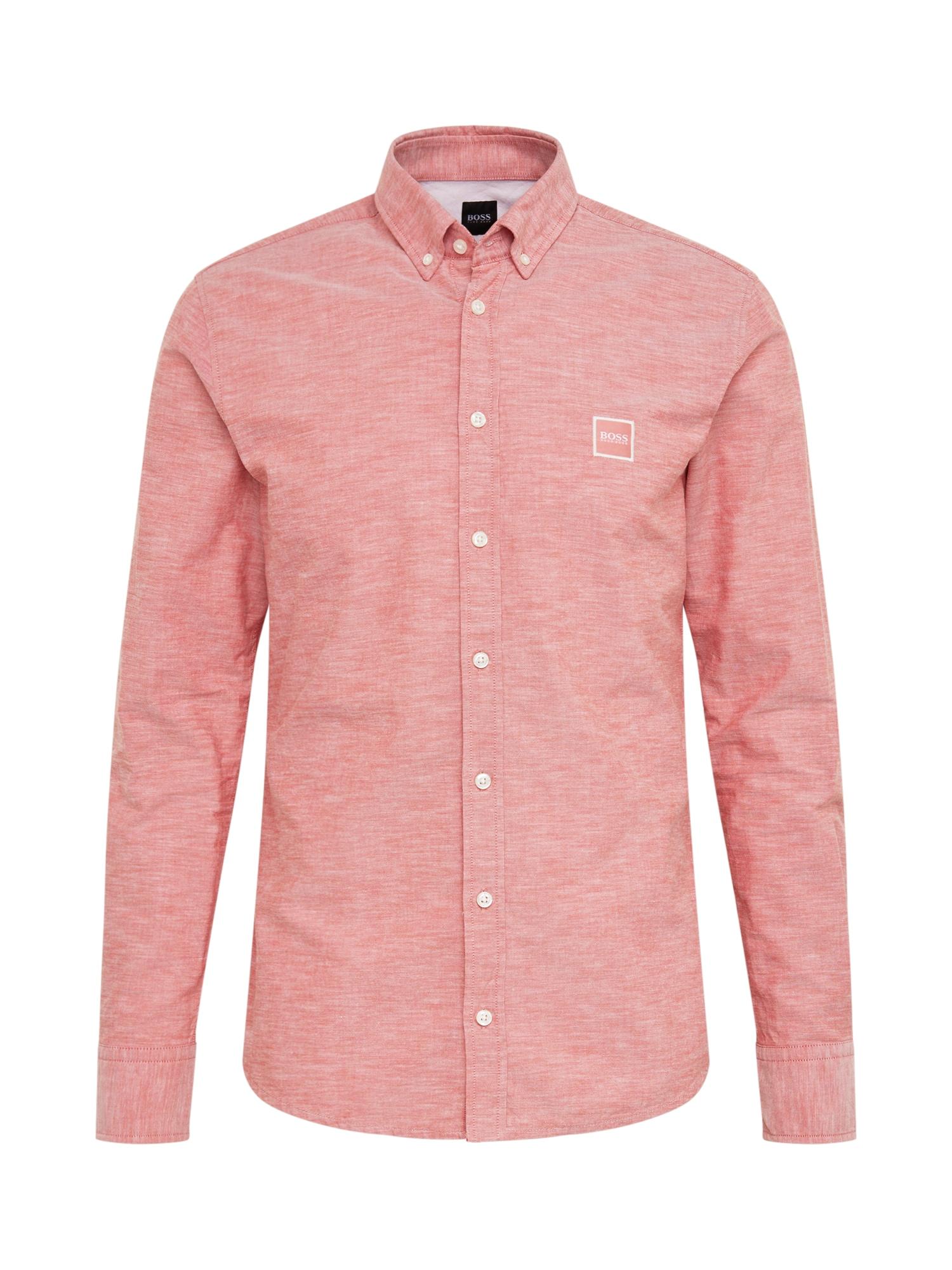 BOSS Dalykiniai marškiniai 'Mabsoot' raudona