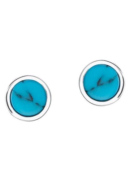 Ohrringe für Frauen - S.Oliver RED LABEL Ohrstecker '2024298' himmelblau silber  - Onlineshop ABOUT YOU