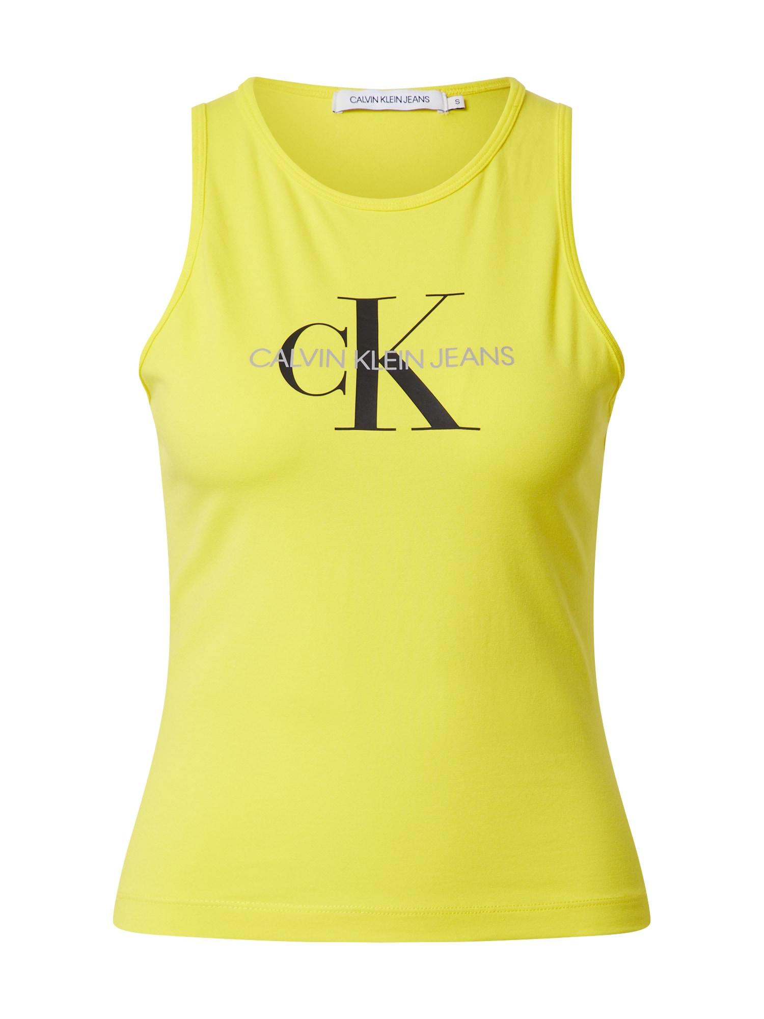 Calvin Klein Jeans Palaidinė be rankovių geltona