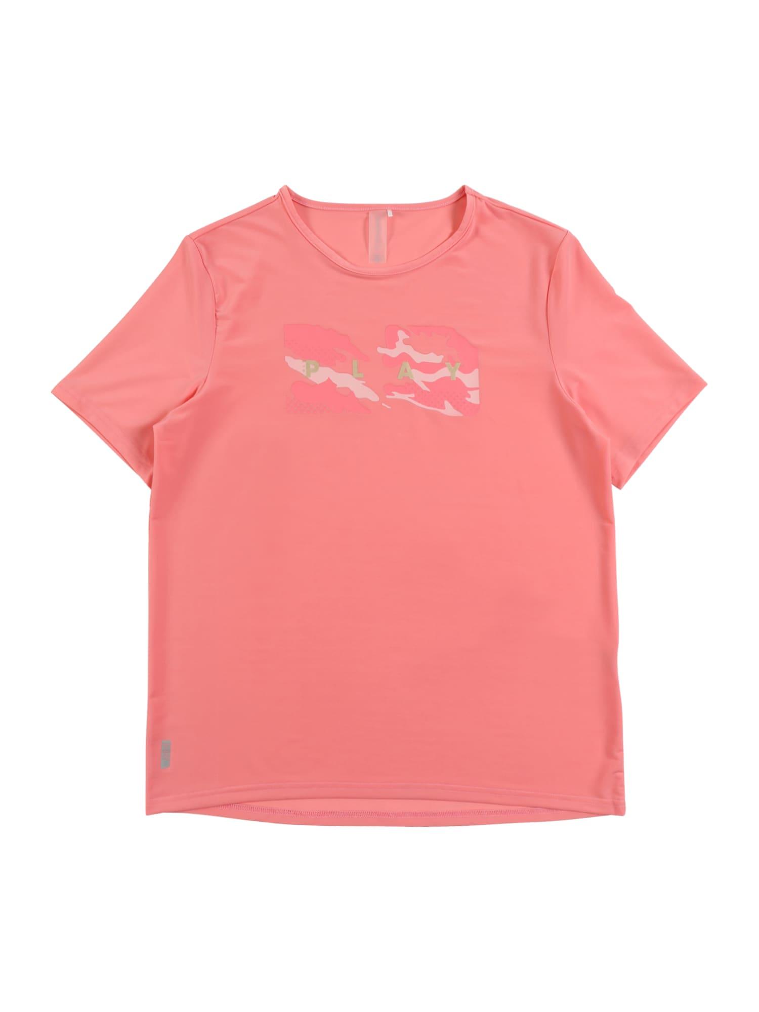 ONLY PLAY Sportiniai marškinėliai 'JOY LIFE LOOSE' rožinė