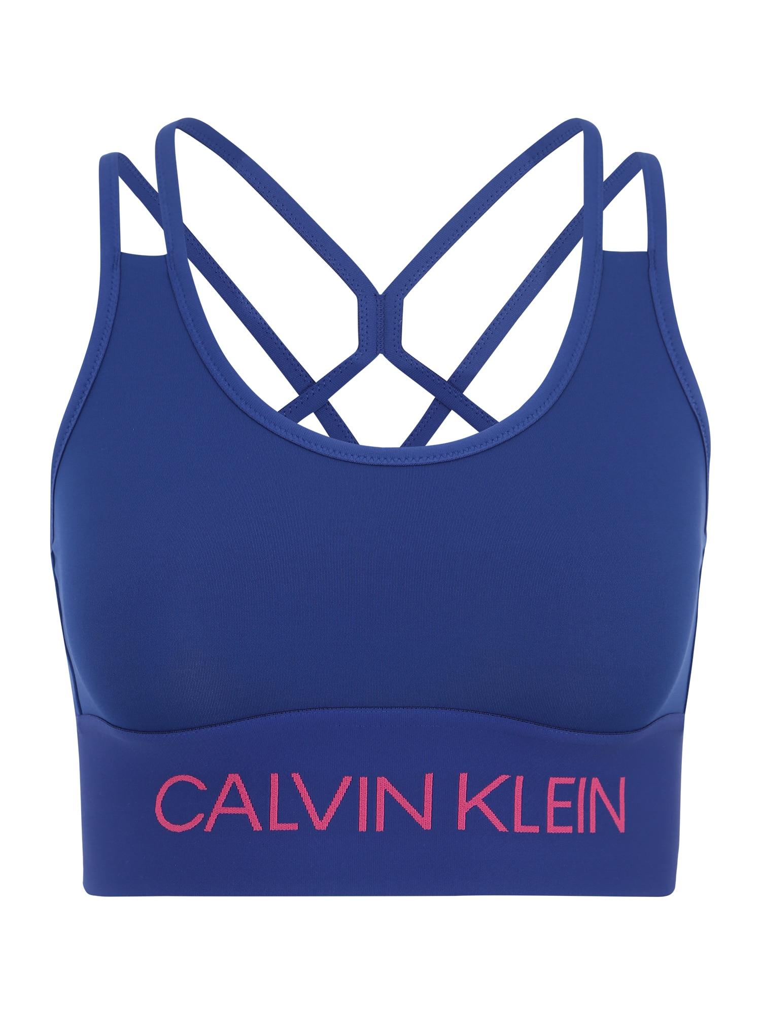 Sportovní podprsenka modrá pink Calvin Klein Performance